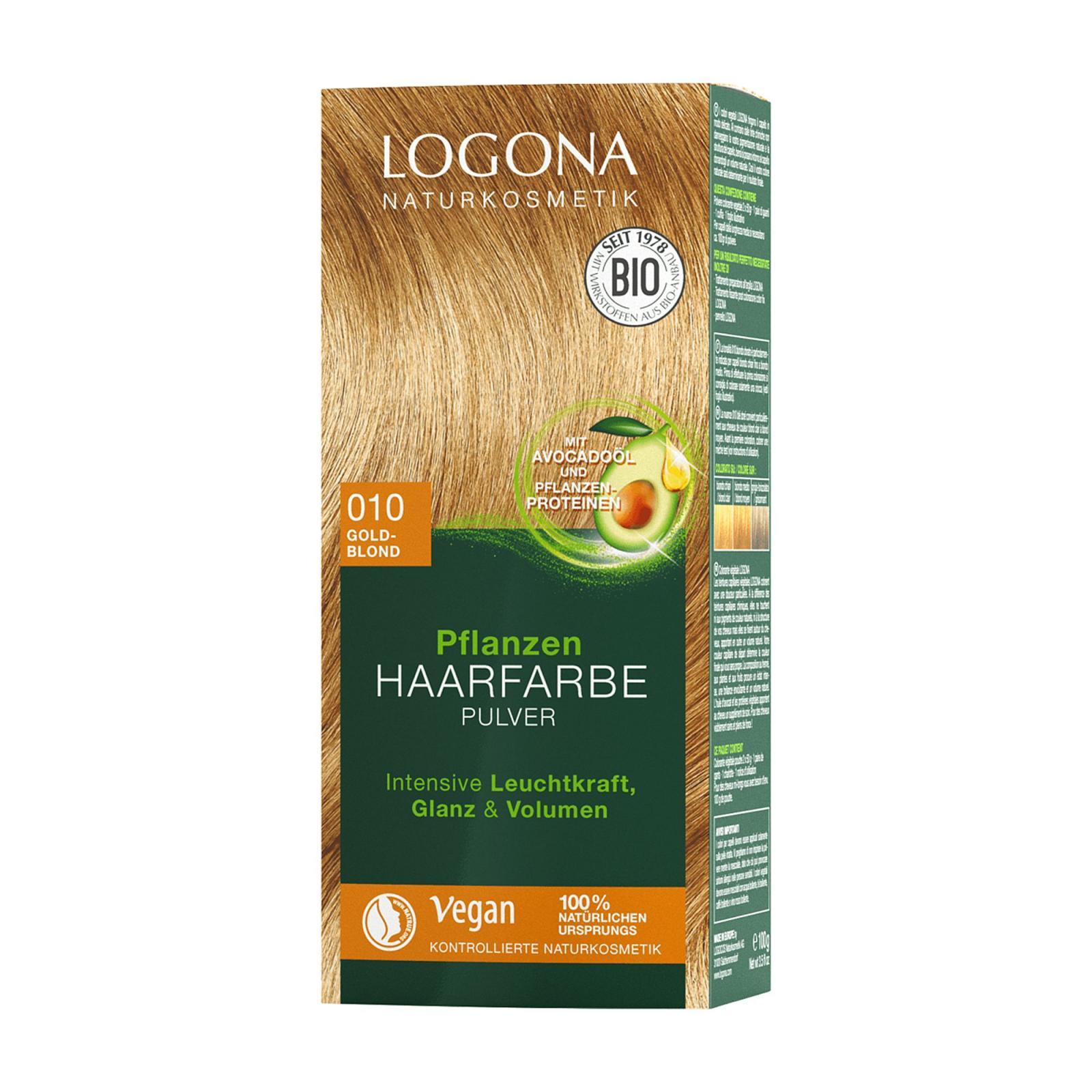 Logona Prášková barva na vlasy zlatá blond, 010 100 g