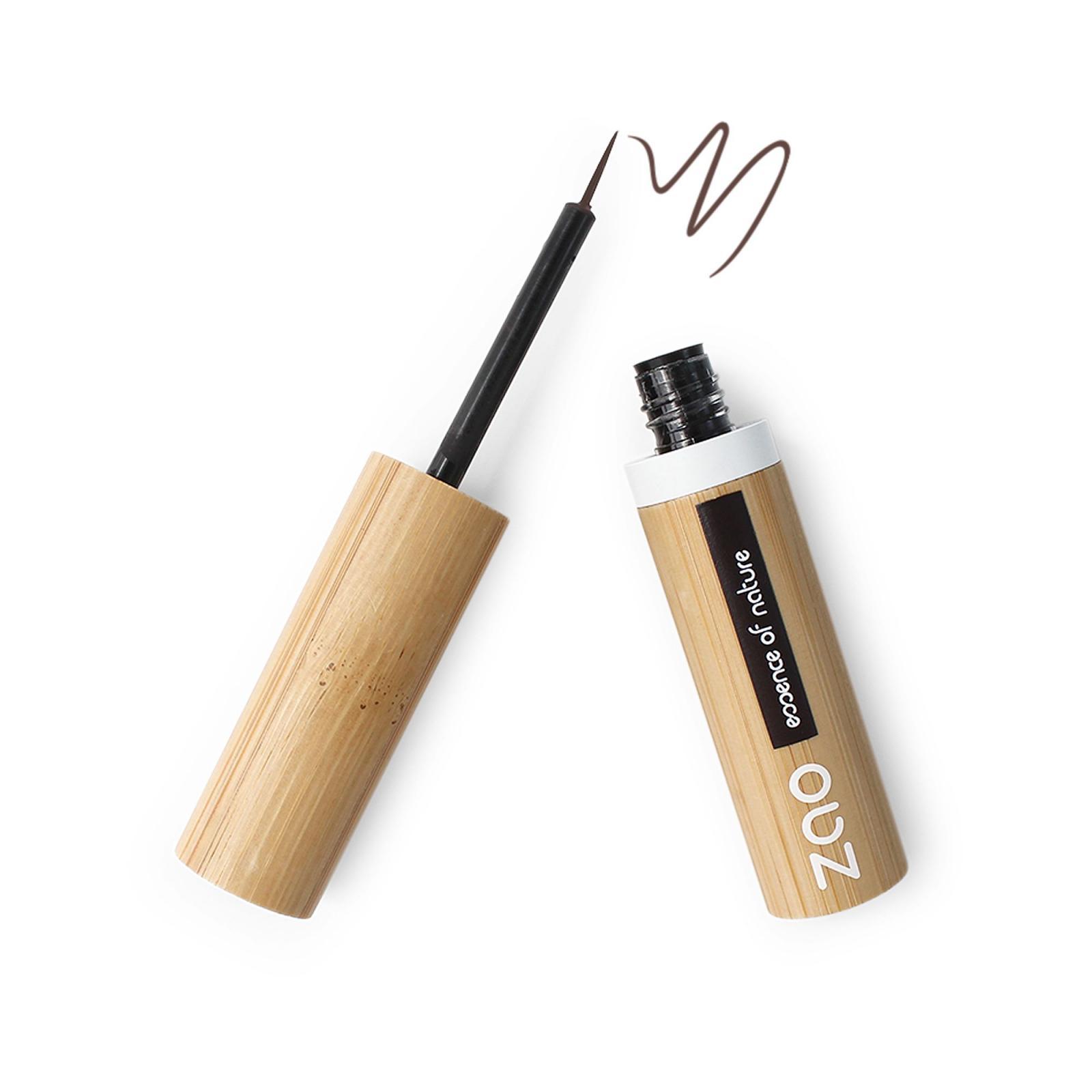 ZAO Tekuté oční linky 071 Dark Brown 4,5 g bambusový obal