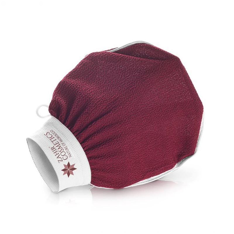 Zahir Cosmetics Kessa - marocká peelingová rukavice 1 ks, vínová