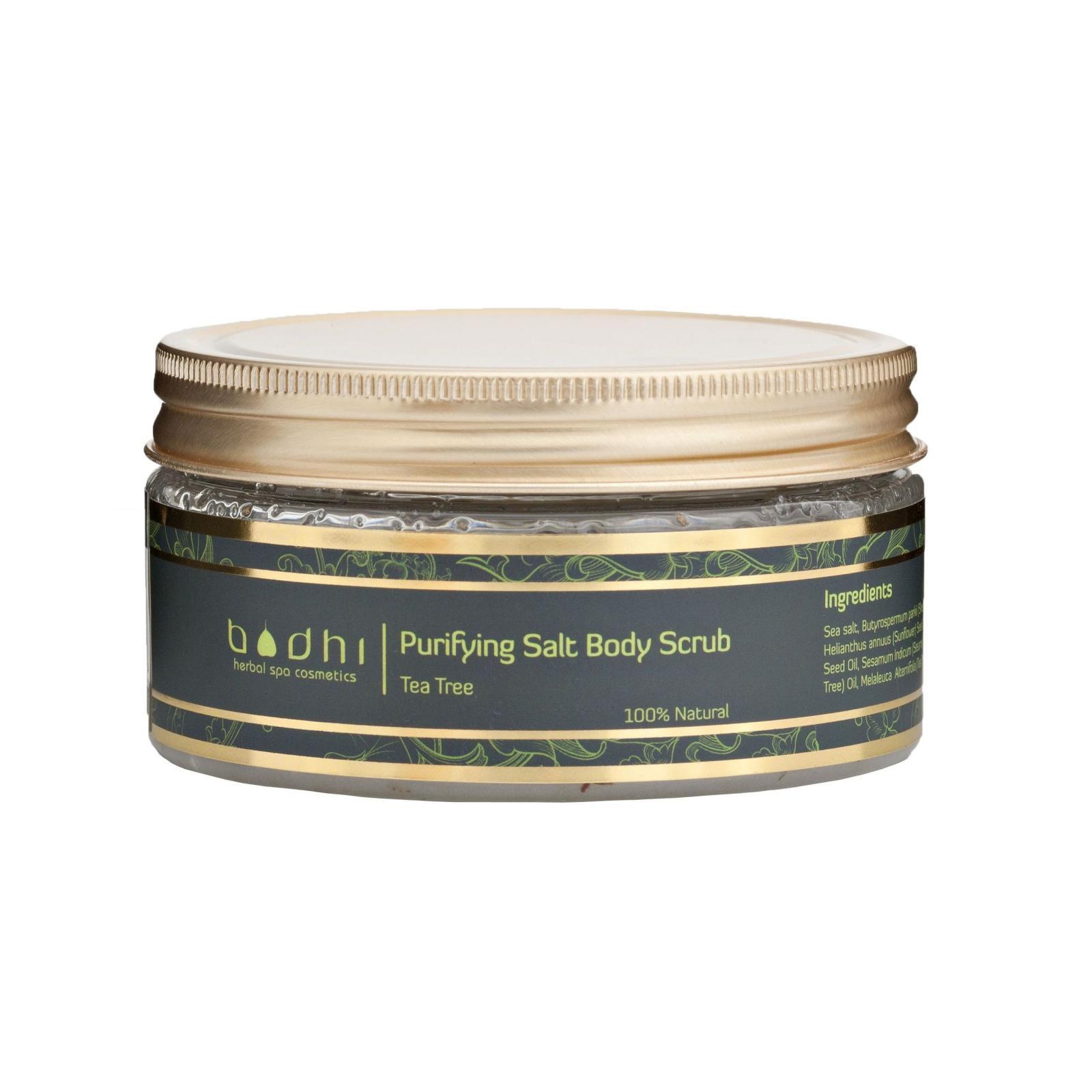 BodhiSpa Tělový solný peeling Čajovník (Tea tree) 250 ml