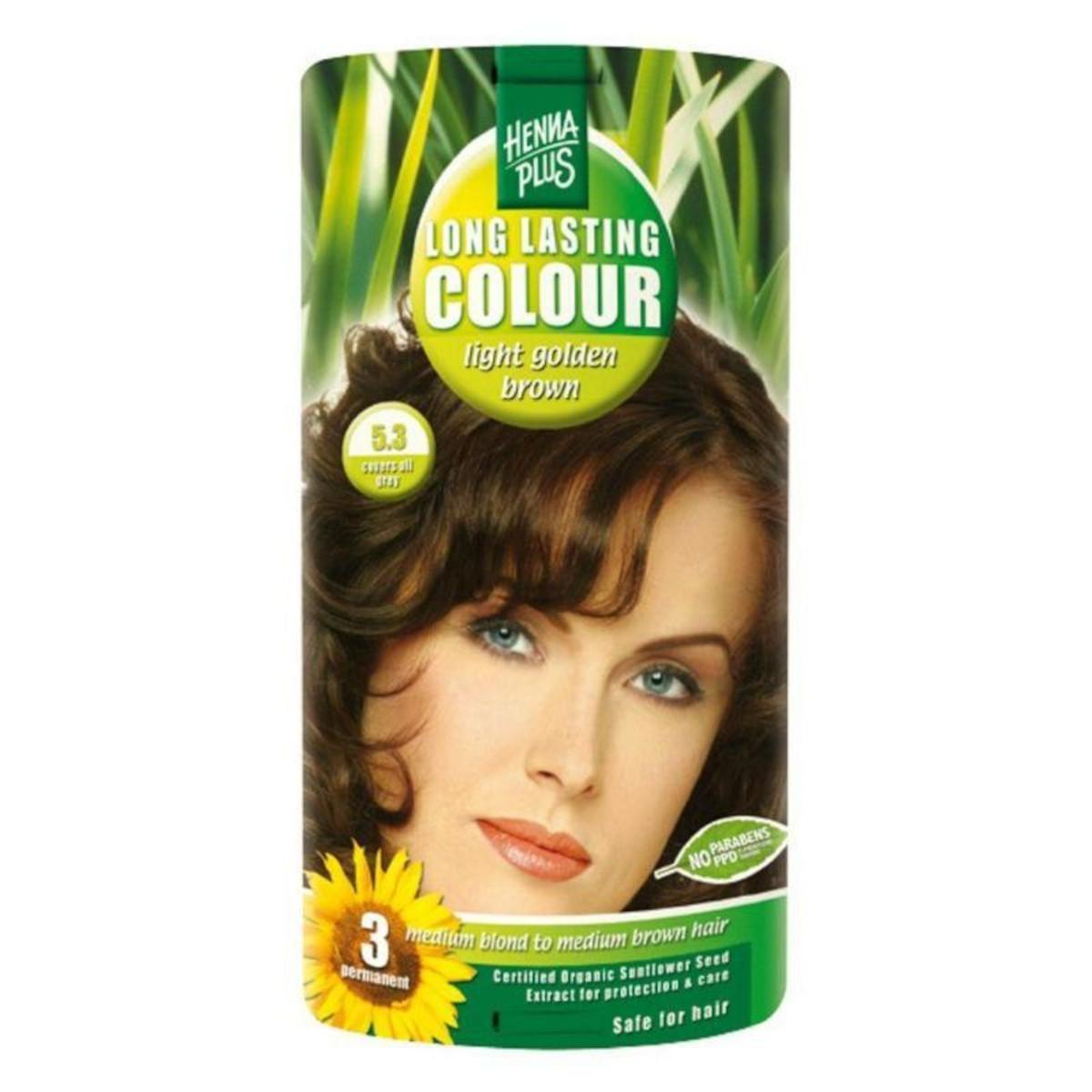 Henna Plus Dlouhotrvající barva Světle zlatá hnědá 5.3 100 ml