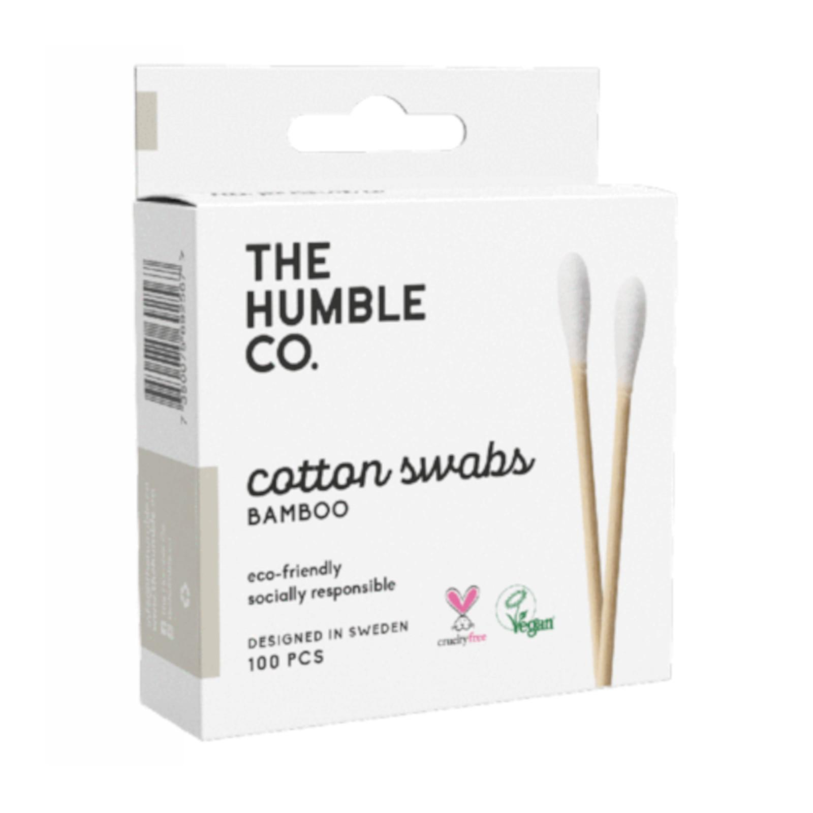 Humble Brush Vatové tyčinky z biobavlny a bambusu 80 ks, (bílá)