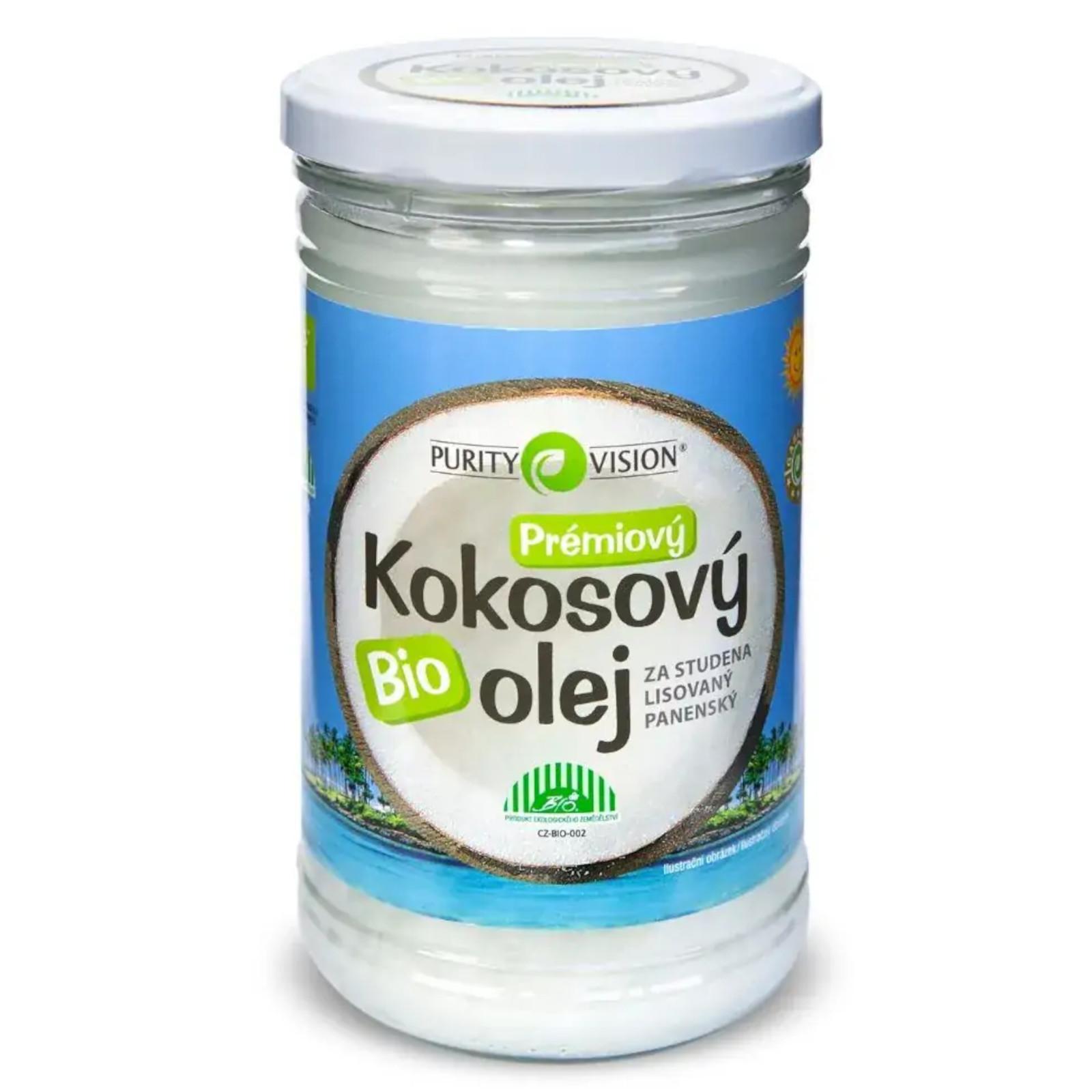 Purity Vision Kokosový olej panenský ve skle 900 ml