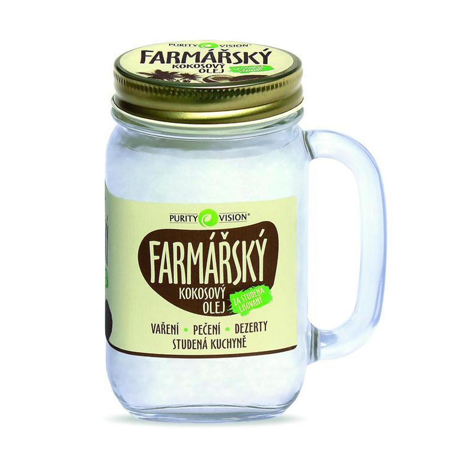 Purity Vision Kokosový olej farmářský ve skle 400 ml