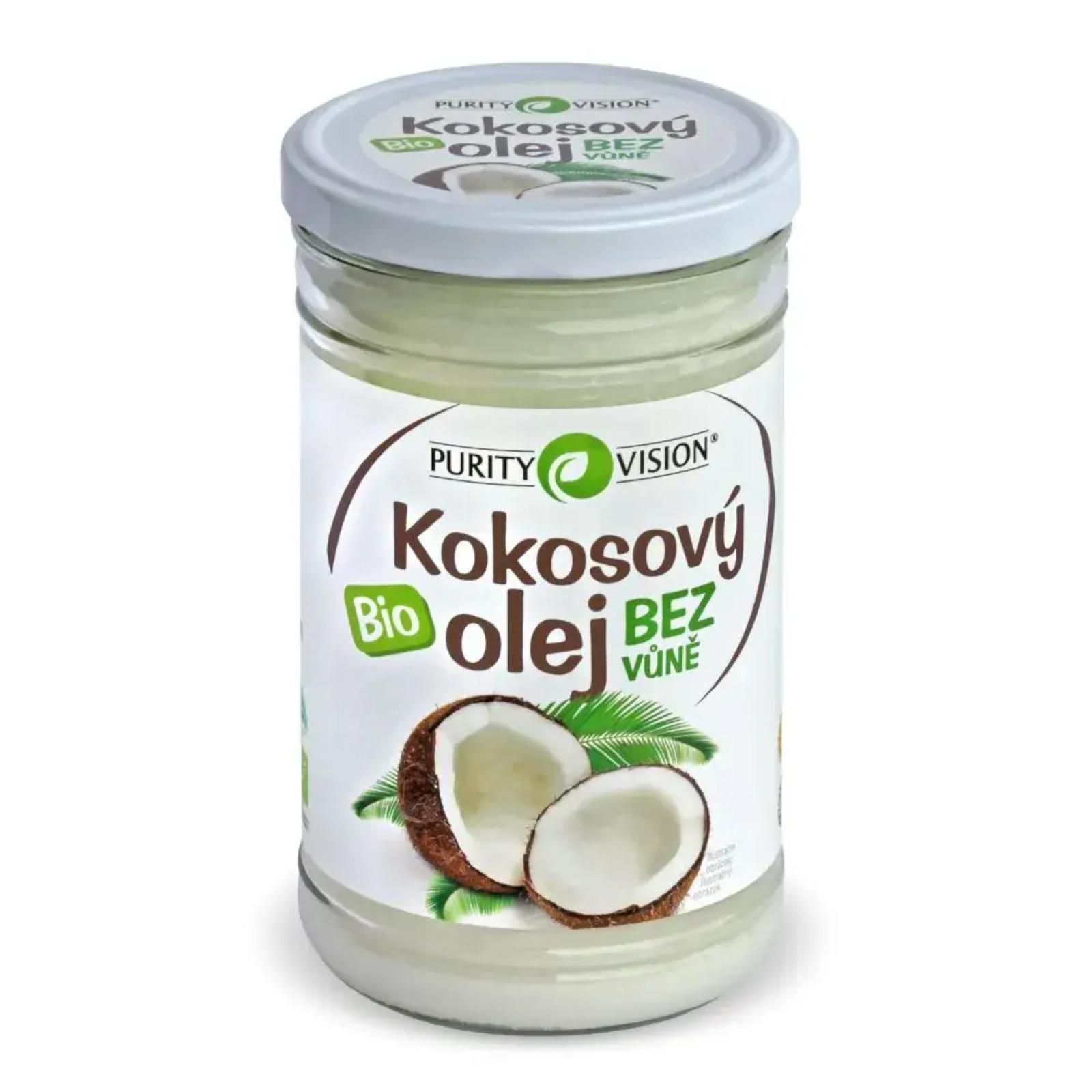 Purity Vision Kokosový olej bez vůně ve skle 900 ml