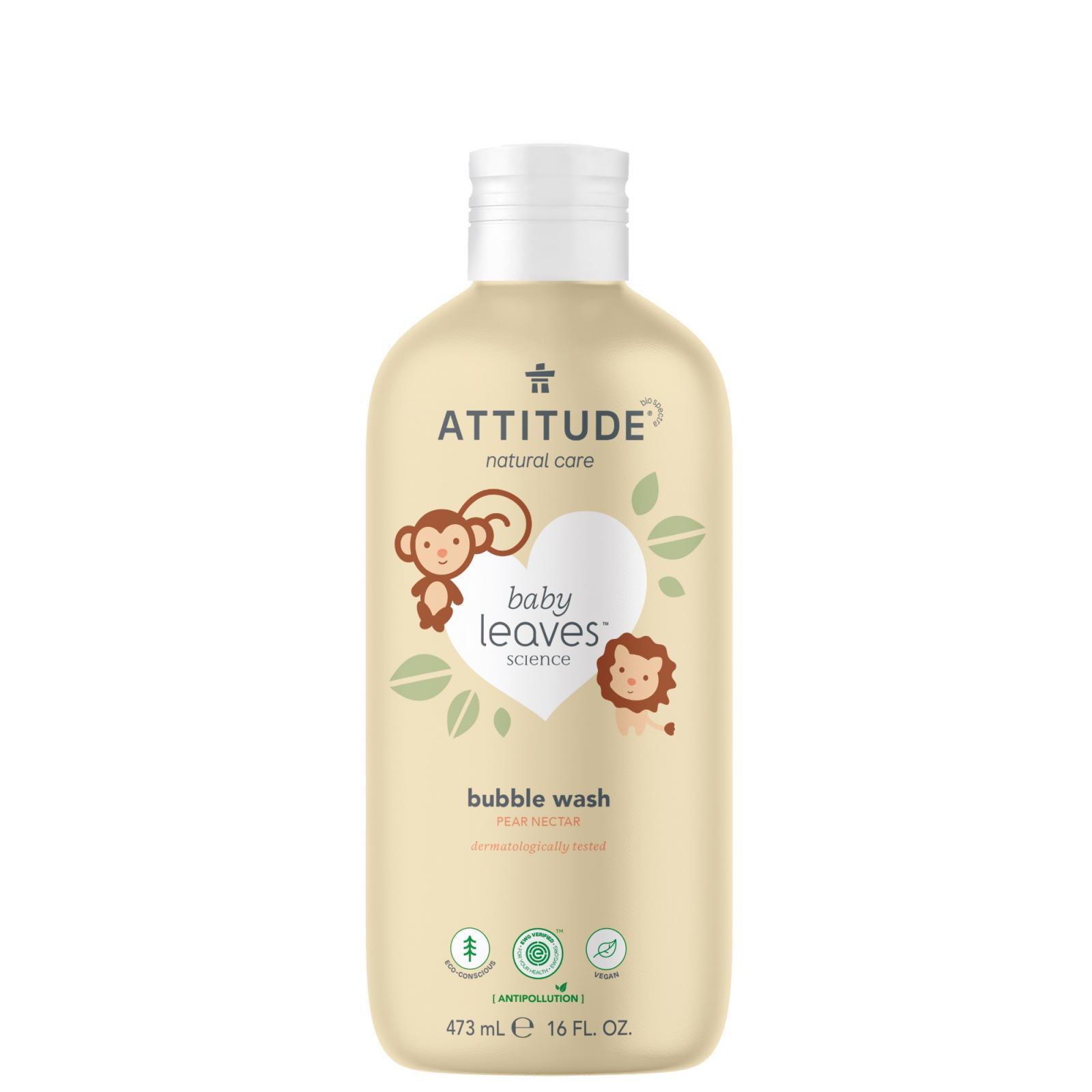Attitude Dětská pěna do koupele hruška, Baby leaves 473 ml