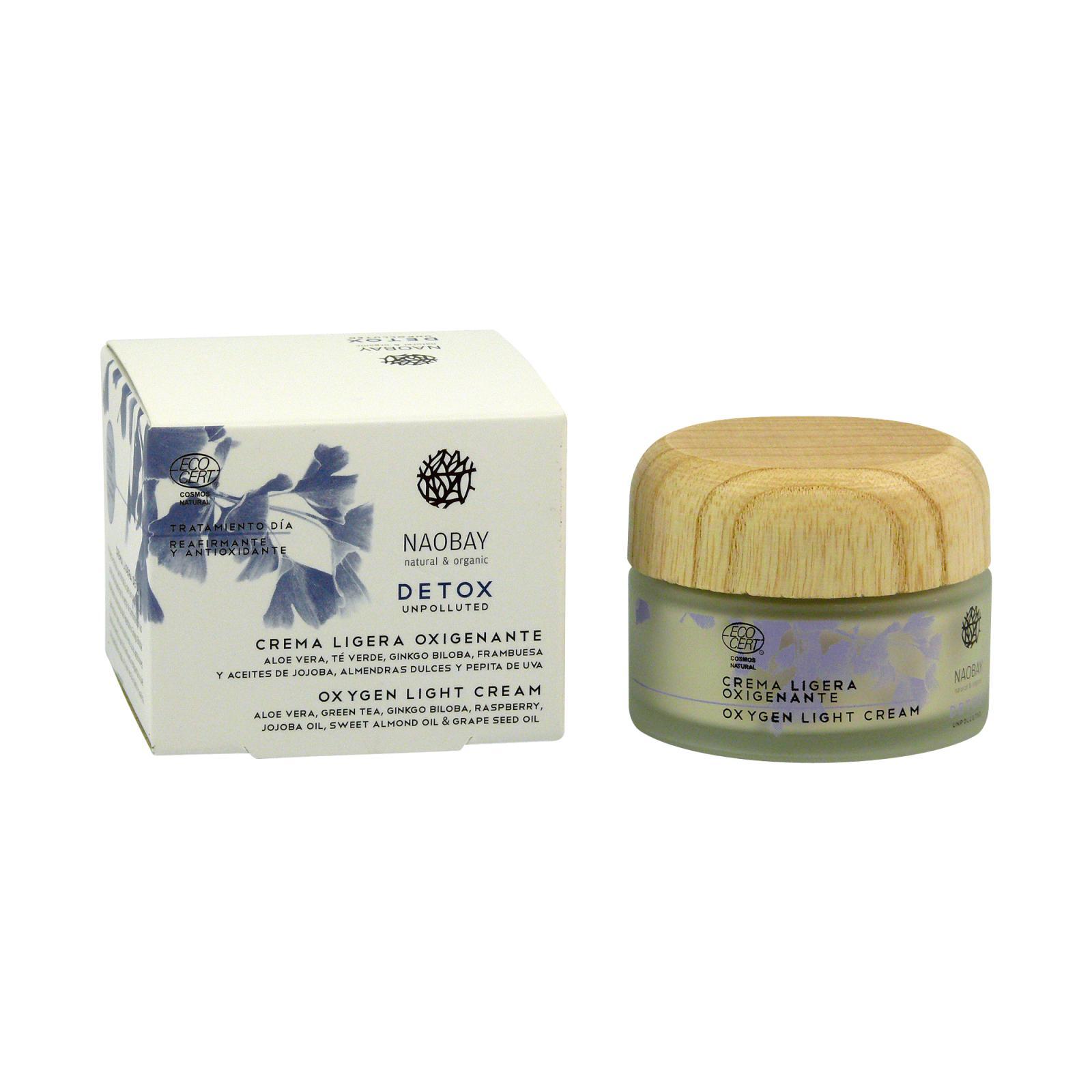 Naobay Lehký okysličující krém, Detox 50 ml