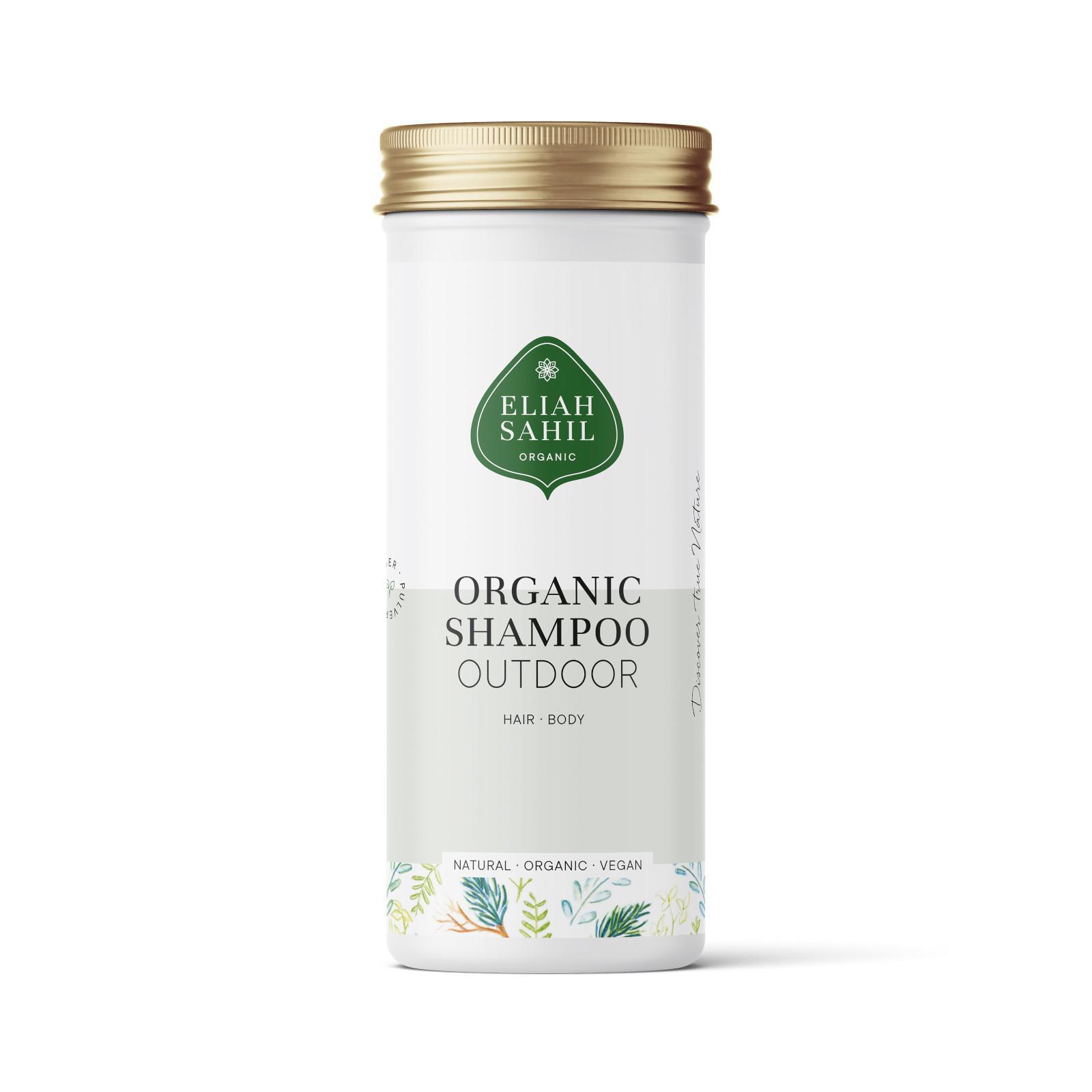 Eliah Sahil Organic Práškový šampon na vlasy a tělo Verveine 100 g
