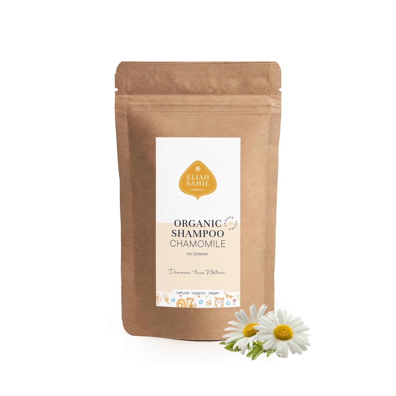 Eliah Sahil Ájurvédský práškový šampon pro děti Chamomile, Bio 250 g, náplň