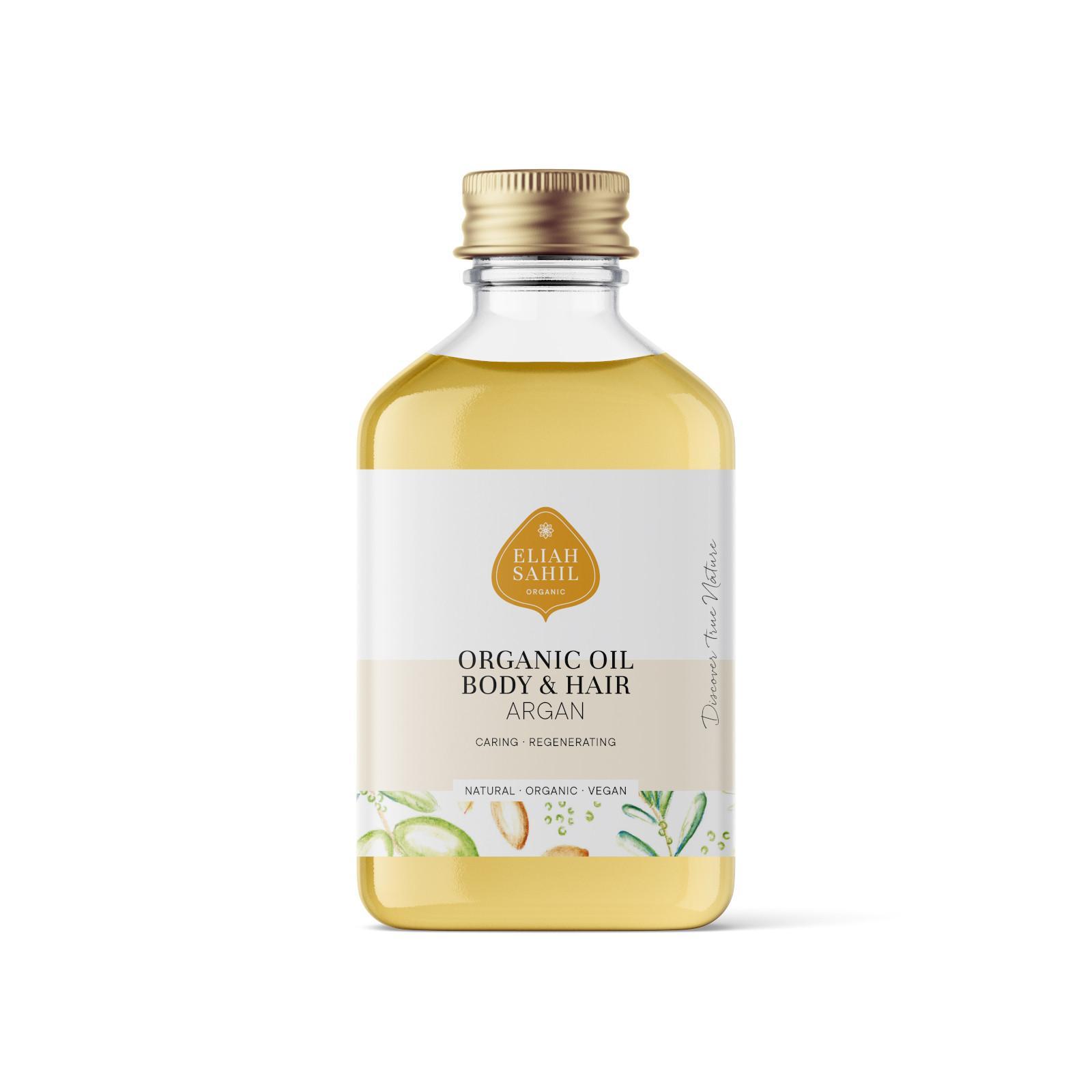 Eliah Sahil Organic Tělový a vlasový olej Argan 100 ml
