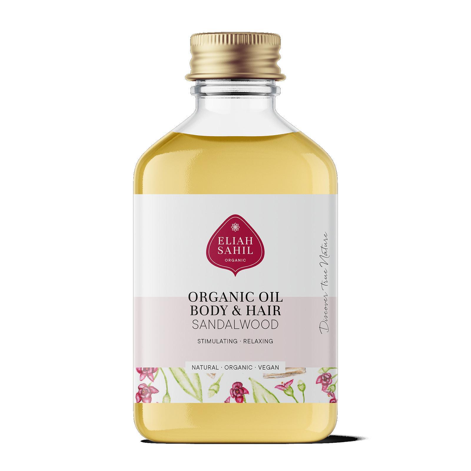 Eliah Sahil Organic Tělový a vlasový olej santalové dřevo 100 ml