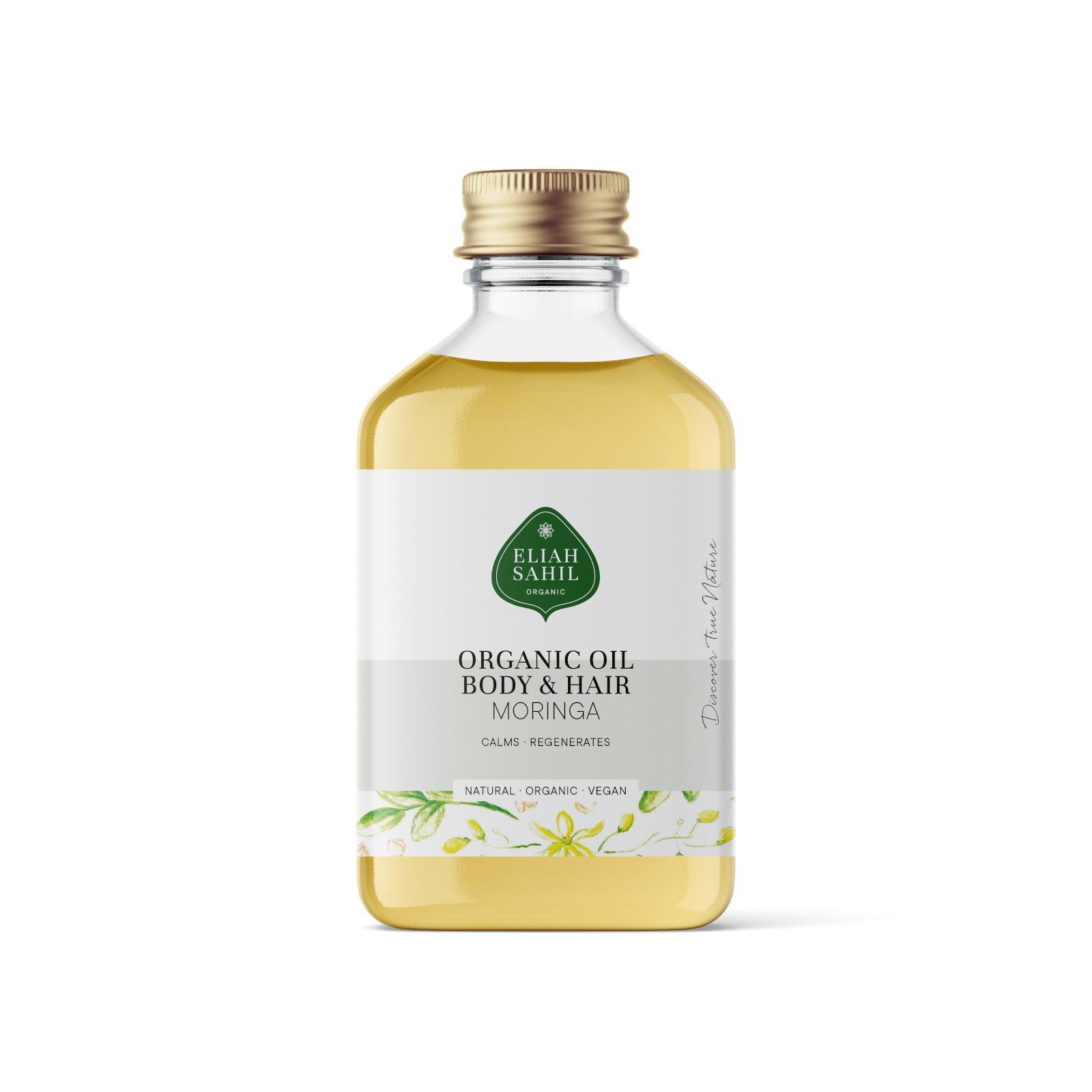 Eliah Sahil Ájurvédský tělový a vlasový olej Moringa, Bio 100 ml
