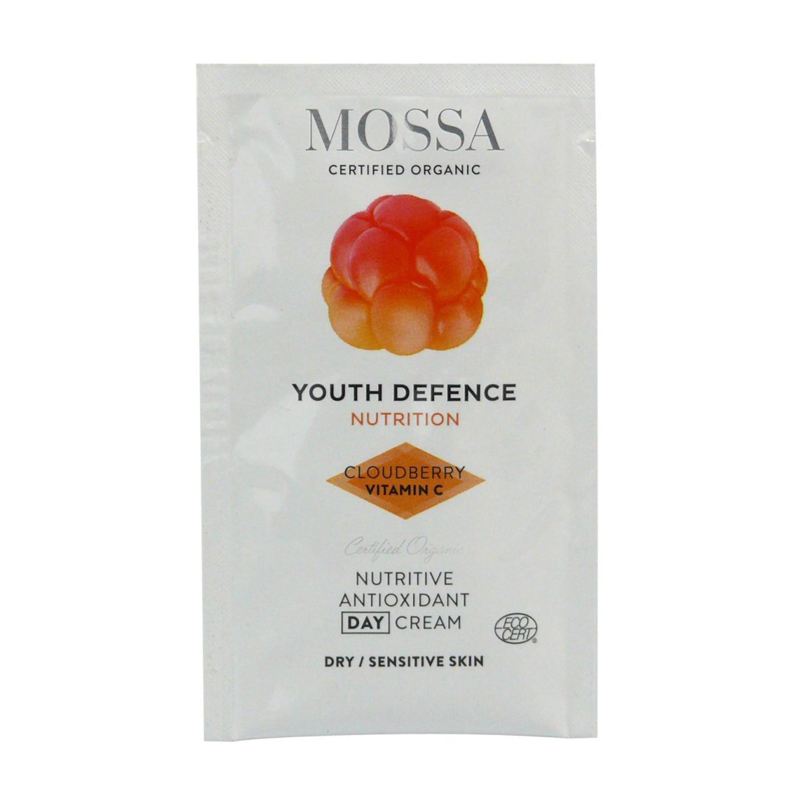MOSSA Výživný denní krém s antioxidanty, Youth Defence 2 ml