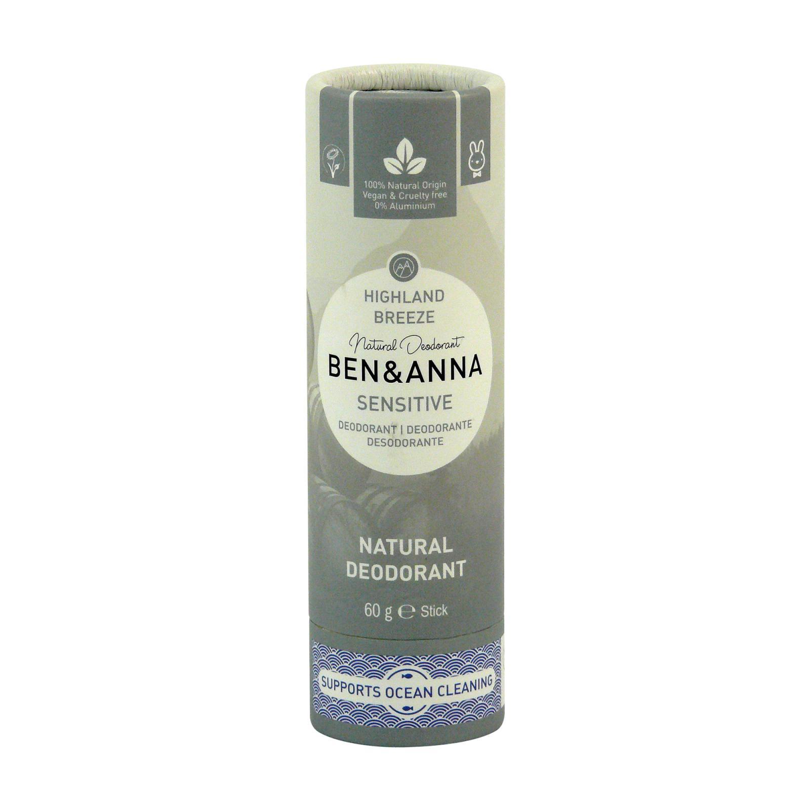 Ben & Anna Tuhý deodorant Sensitive 60 g, horský vánek