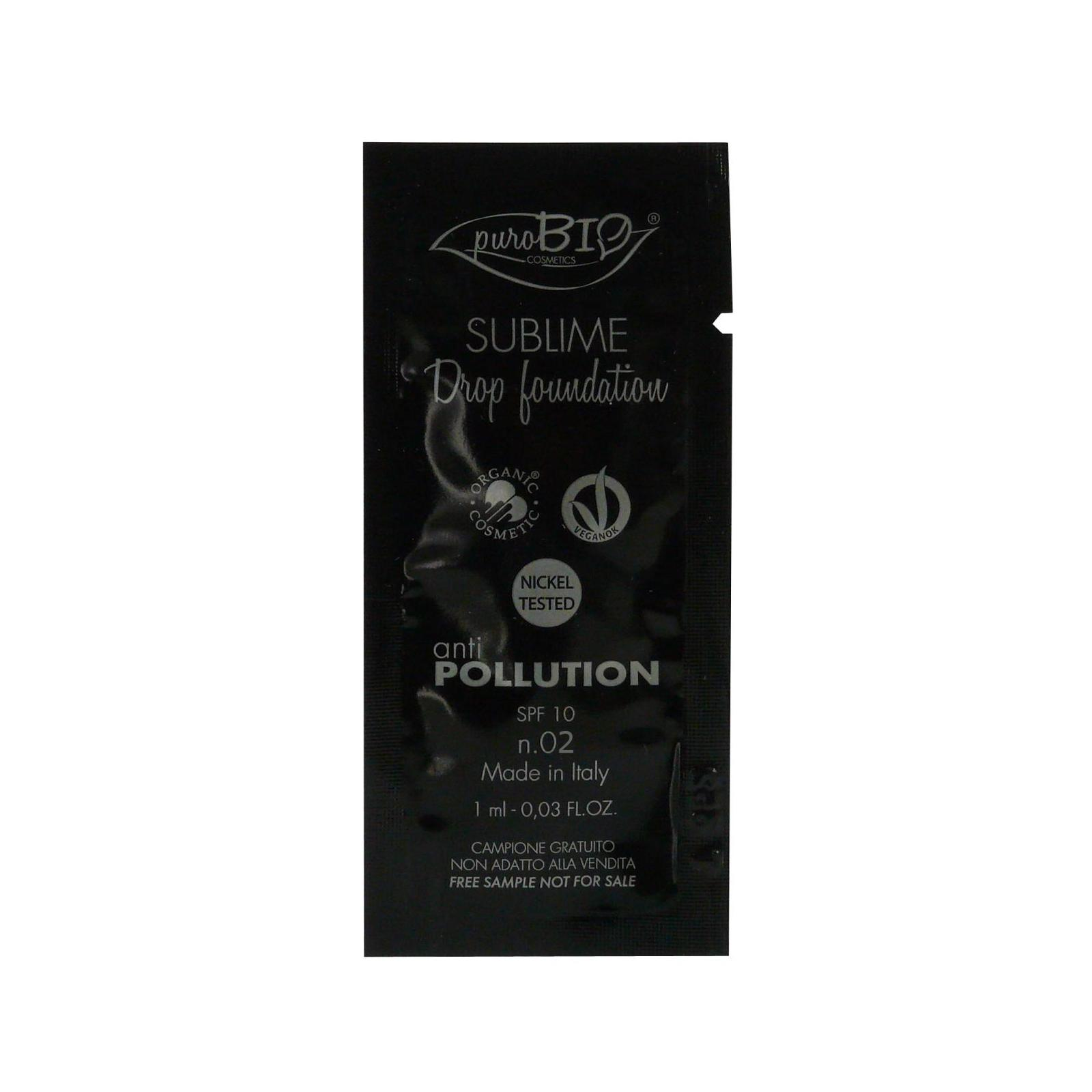 puroBIO cosmetics Tekutý make-up 02 s SPF 10 1 ml