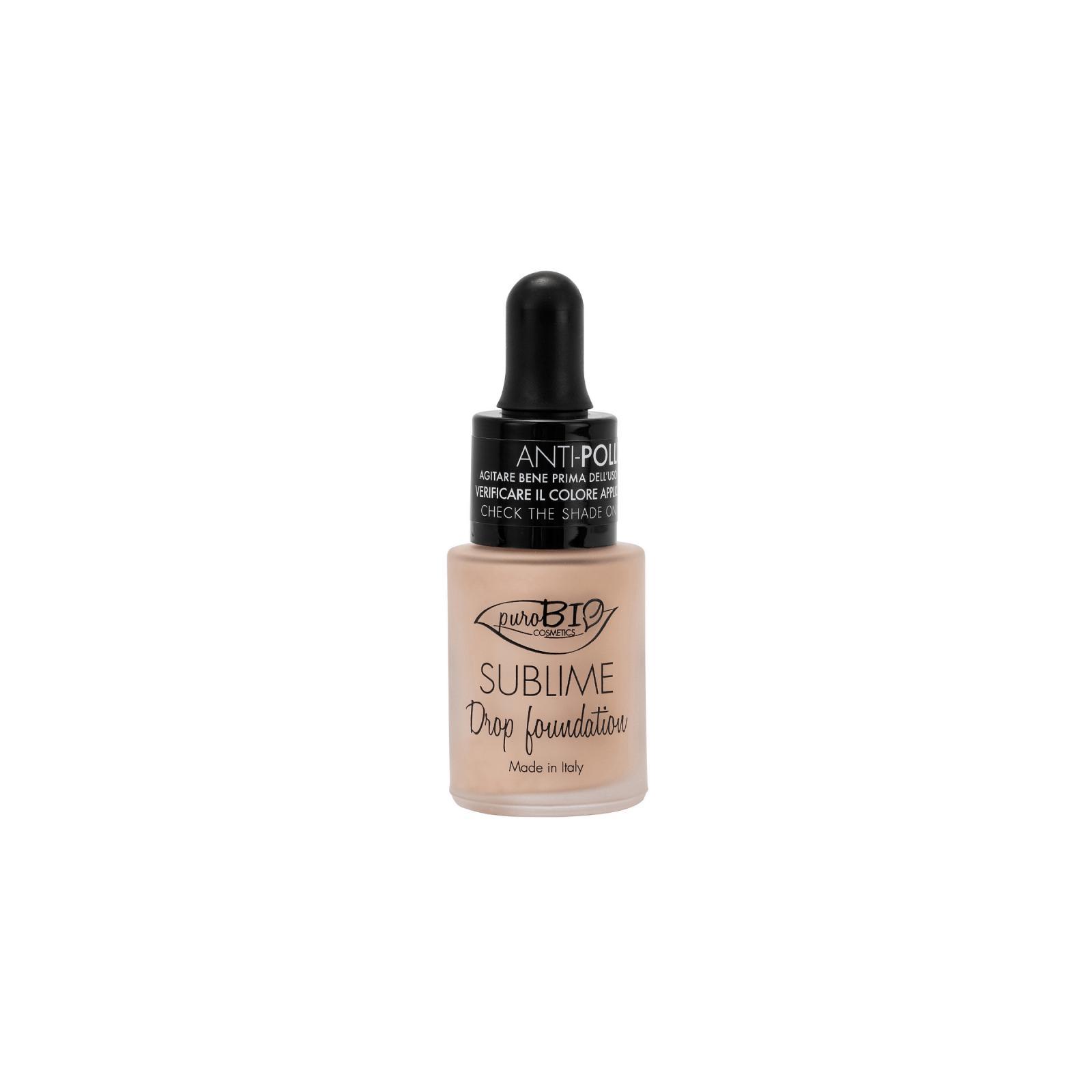 puroBIO cosmetics Tekutý make-up 00 s SPF 10 19 g