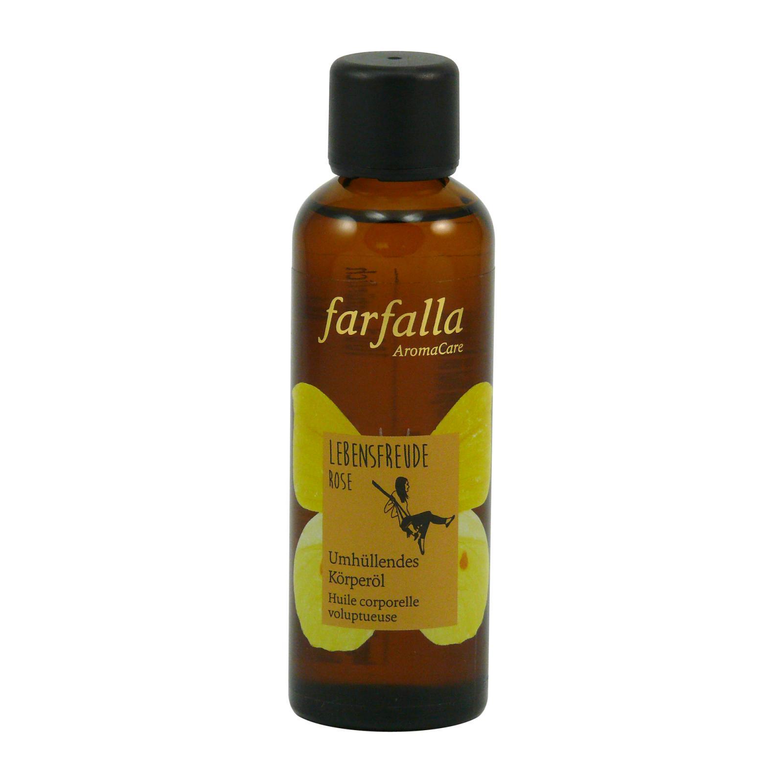 Farfalla Tělový olej Radost ze Života, Růže 75 ml