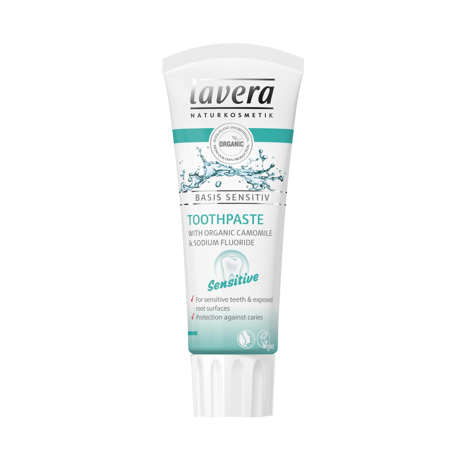 Lavera Zubní pasta pro citlivé zuby a dásně, Basis Sensitive 75 ml