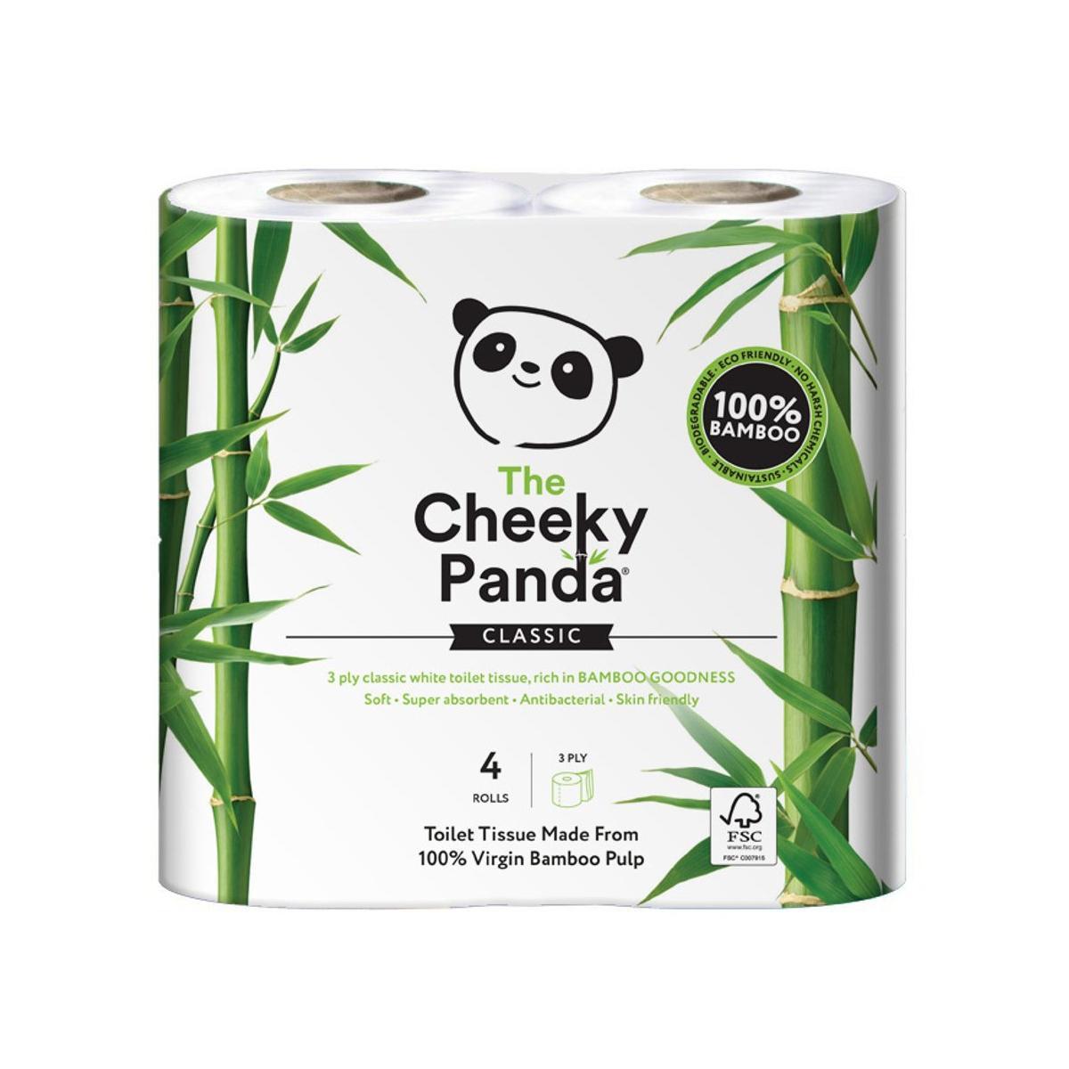 The Cheeky Panda Toaletní papír 3-vrstvý, 200 útržků 4 role