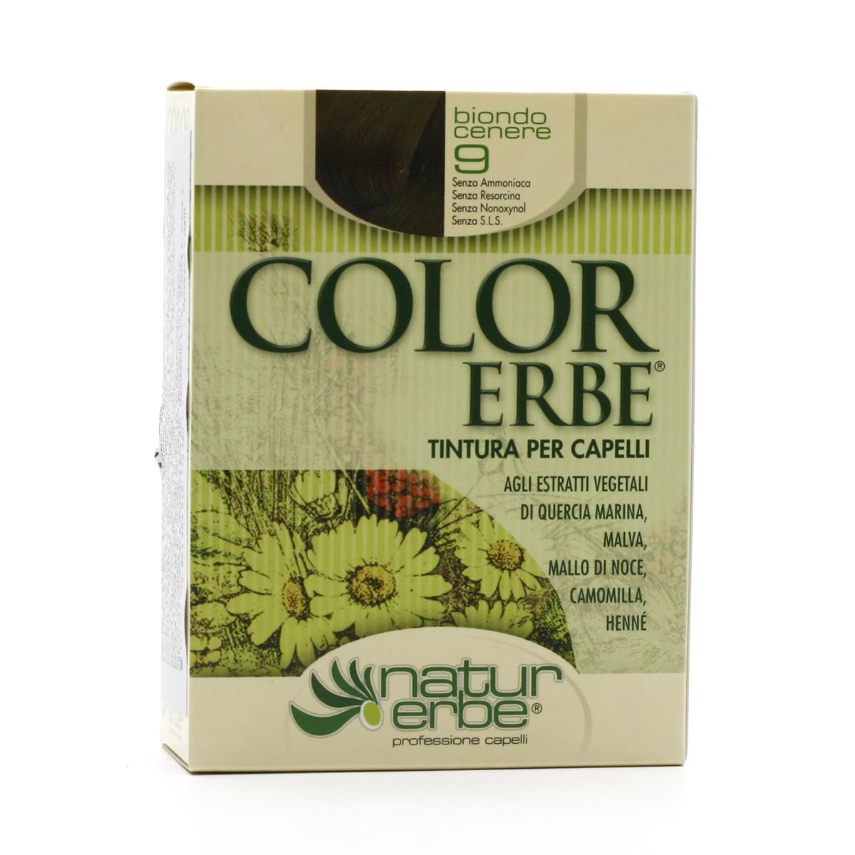 Color Erbe Barva na vlasy Popelavá blond 09, Natur 135 ml