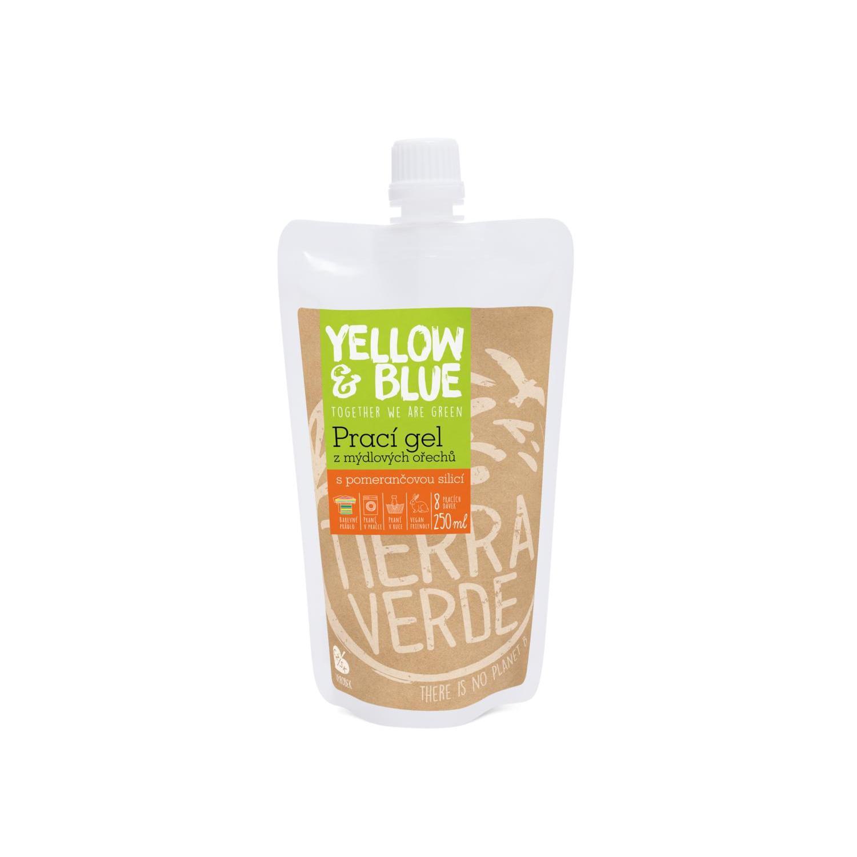 Yellow and Blue Prací gel z ořechů pomeranč 250 ml