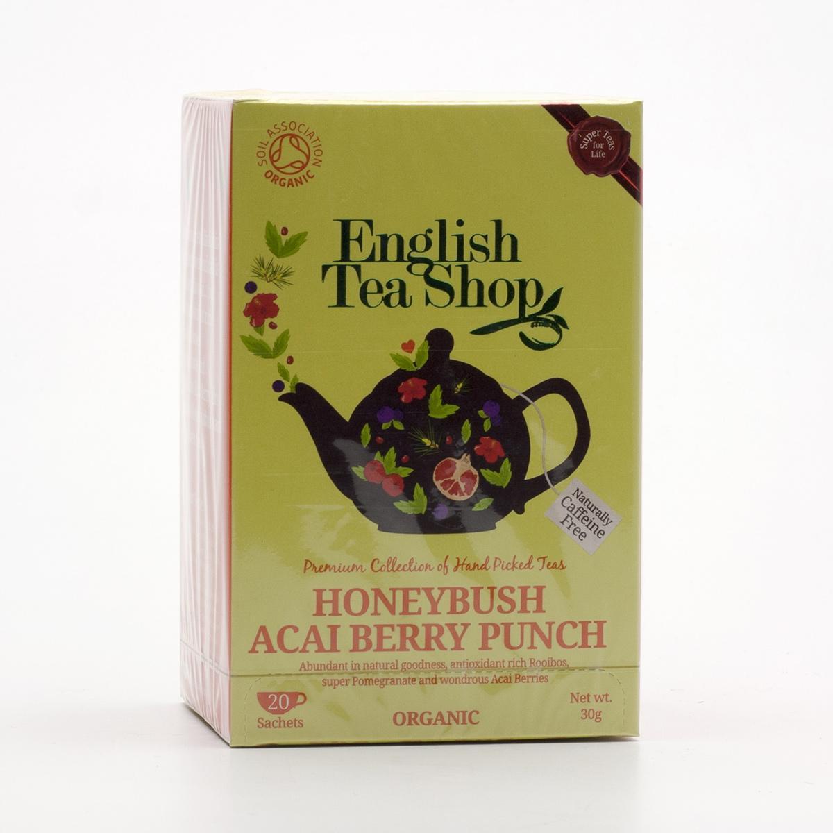 English Tea Shop Rooibos, punč s medovým květem a acai 20 ks, 30 g