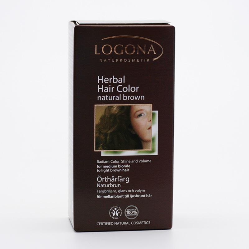 Logona Barva na vlasy, henna hnědá přírodní 100 g