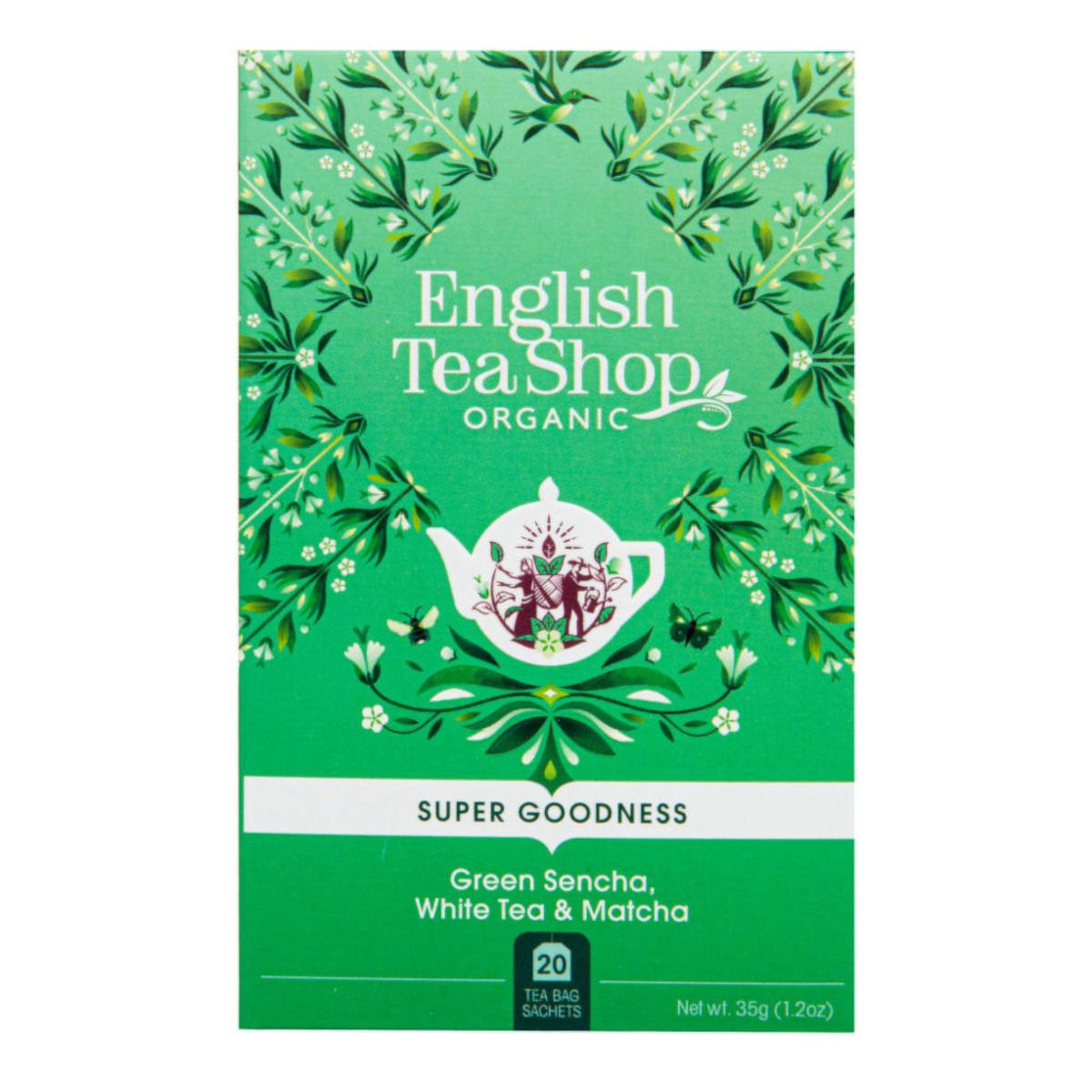 English Tea Shop Super Goodness, Zelená sencha, bílý čaj & matcha 35 g, 20 ks