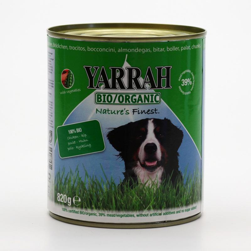 Yarrah x Kousky kuřecí se zeleninou pro psy v konzervě 820 g