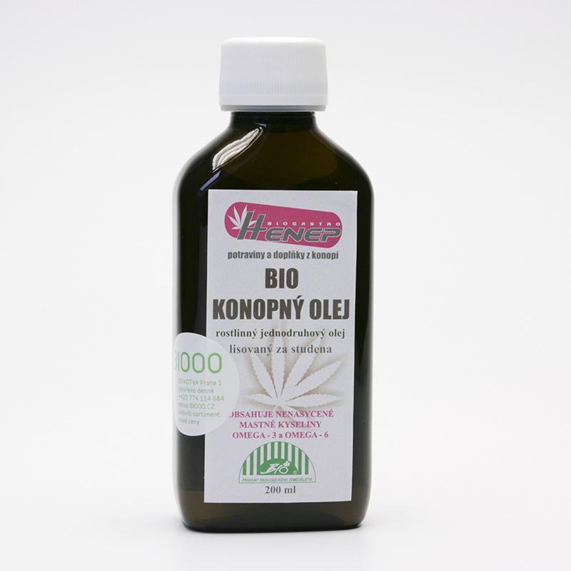 Henep Konopný olej, bio, Hennep oil 200 ml