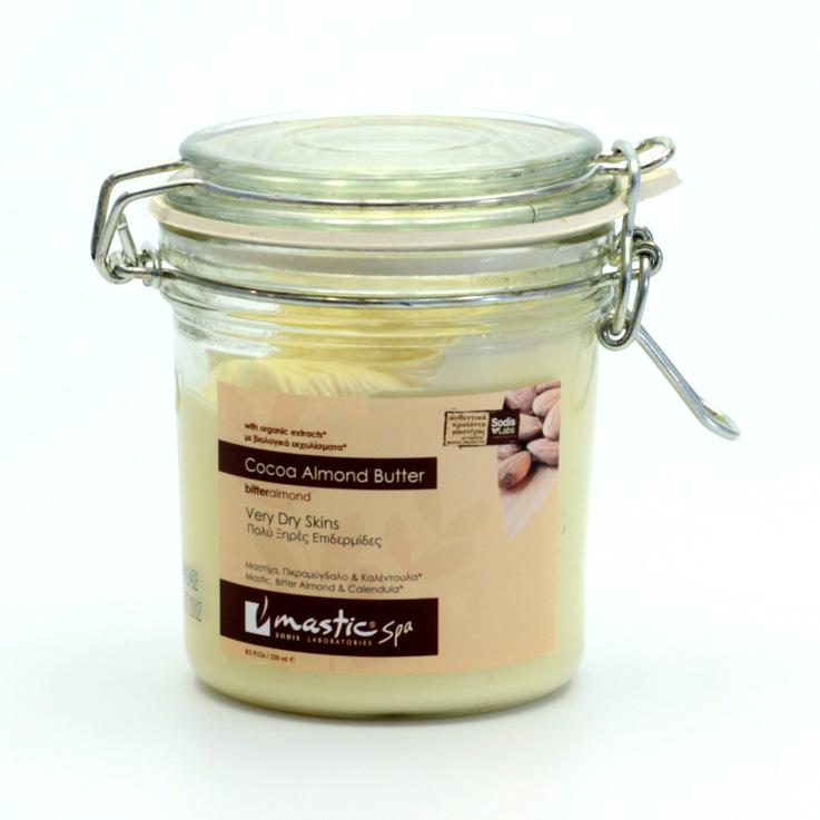 Mastic spa Kakaové tělové máslo s hořkou mandlí, Cocoa Almond Body Butter 250 ml