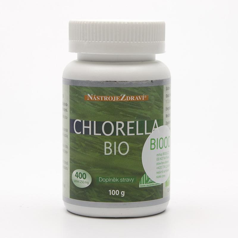 Nástroje Zdraví Chlorella extra bio, tablety 400 ks, 100 g