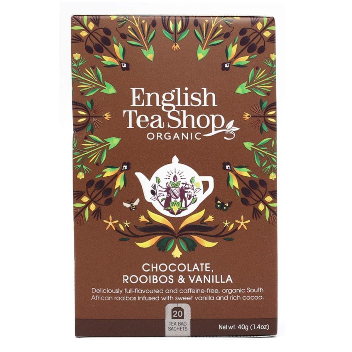 English Tea Shop Rooibos, čokoláda a vanilka 20 ks, 40 g