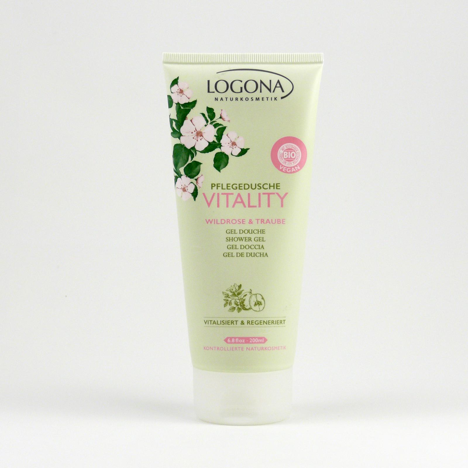 Logona Sprchový gel růže a hrozny, Vitality 200 ml