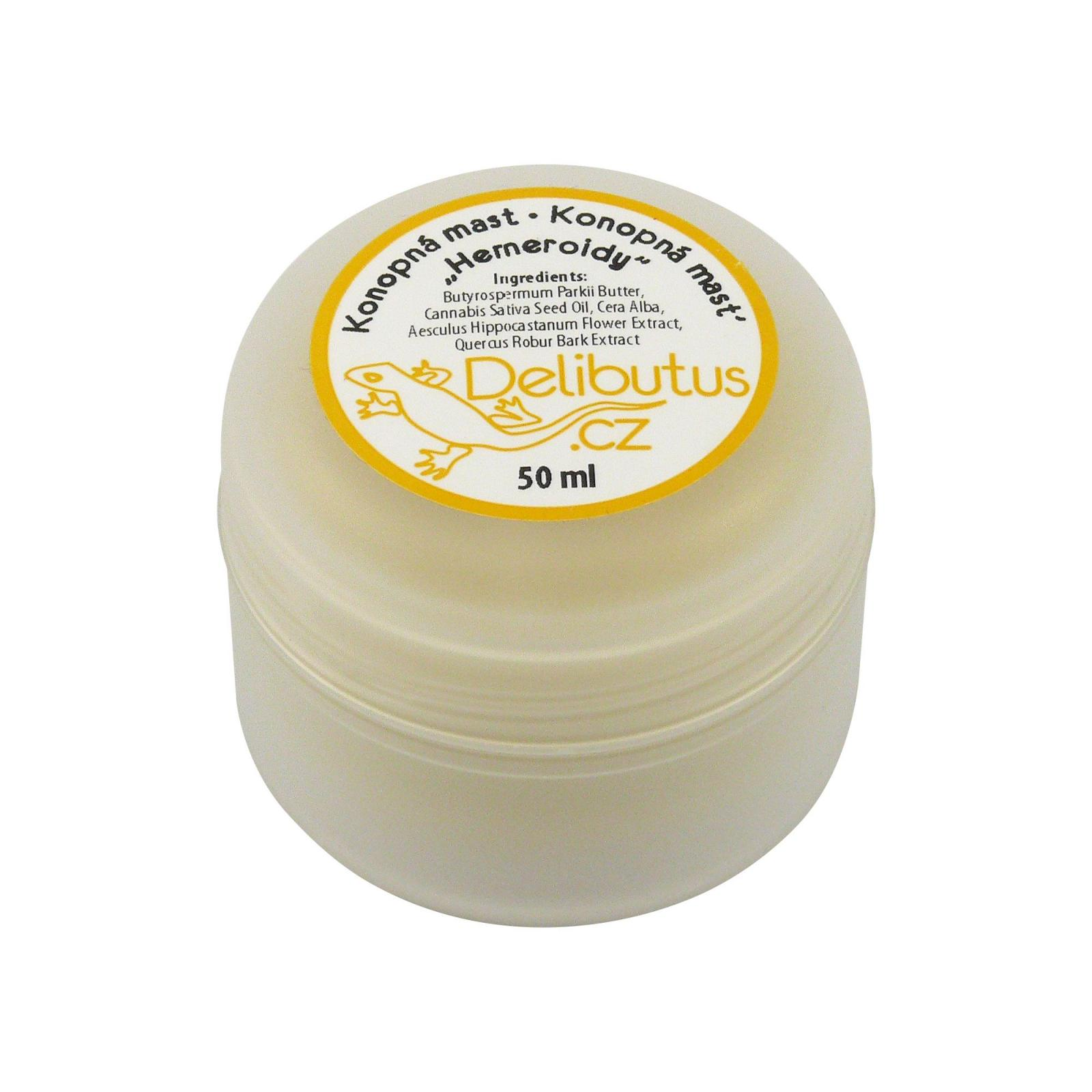 Delibutus Konopná mast Hemeroidy 50 ml