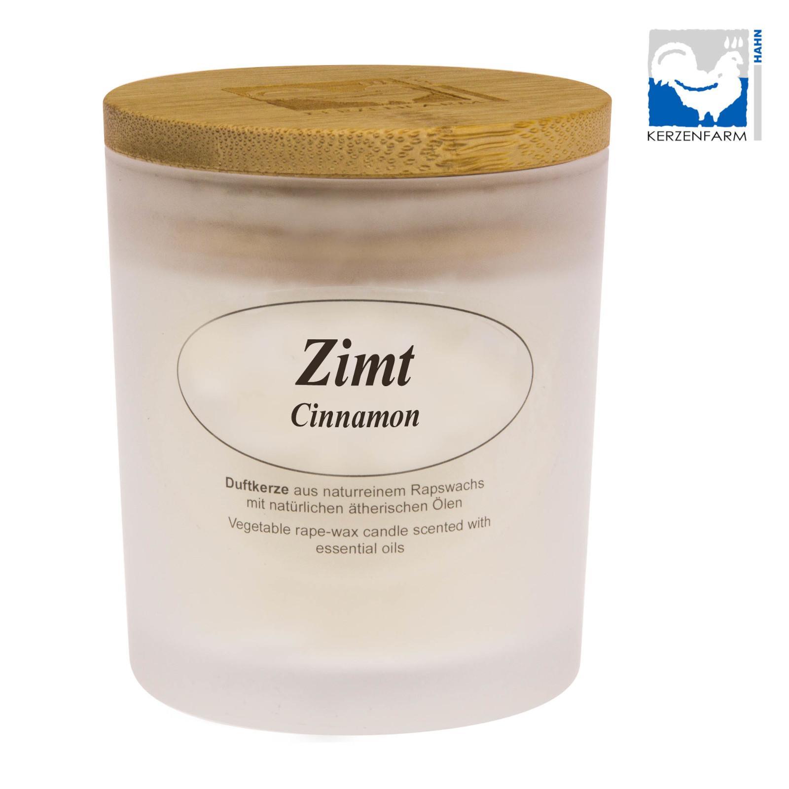 Kerzenfarm Přírodní svíčka Cinnamon, mléčné sklo 1 ks, 8 cm