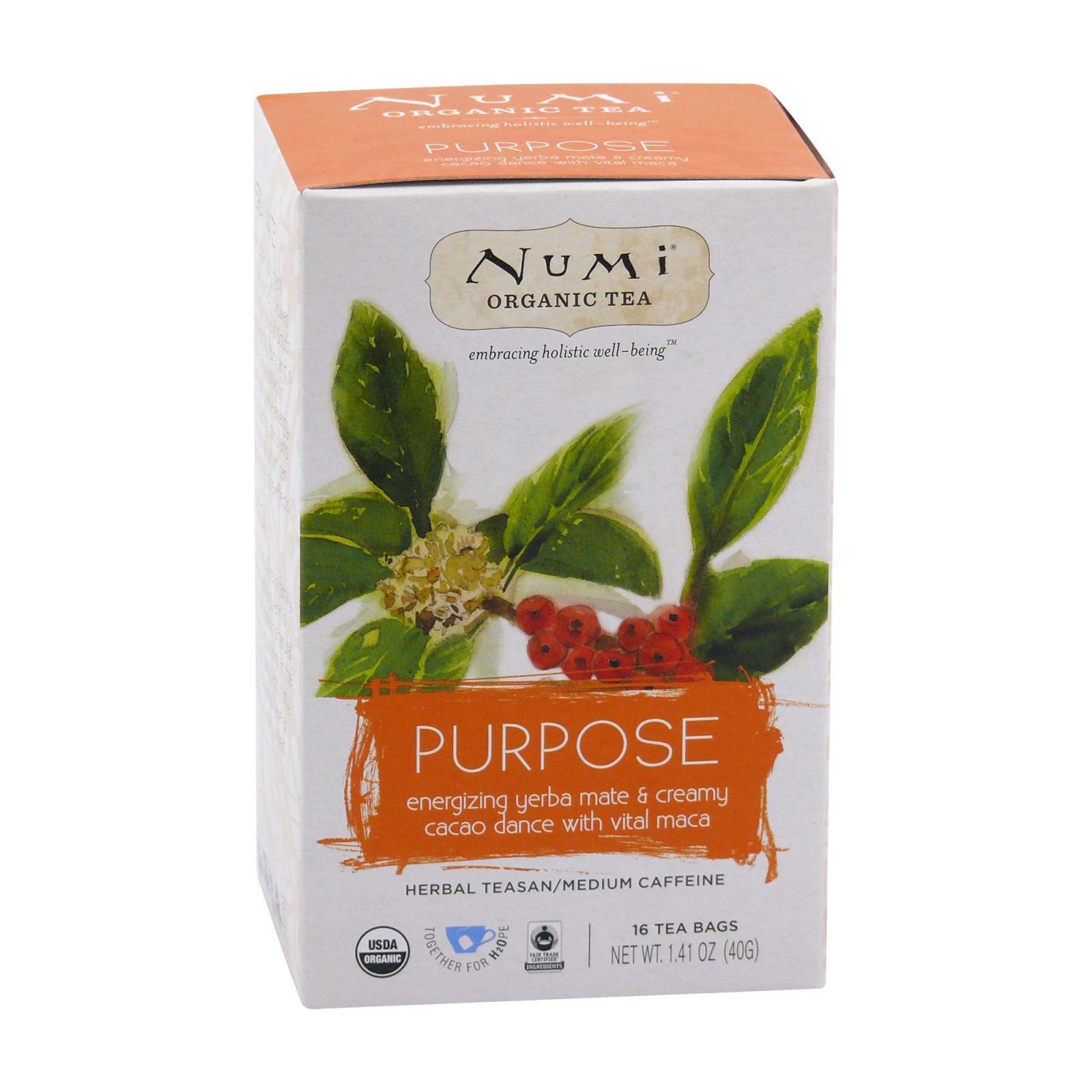 Numi Organic Tea Bylinný čaj Purpose 40 g, 16 ks