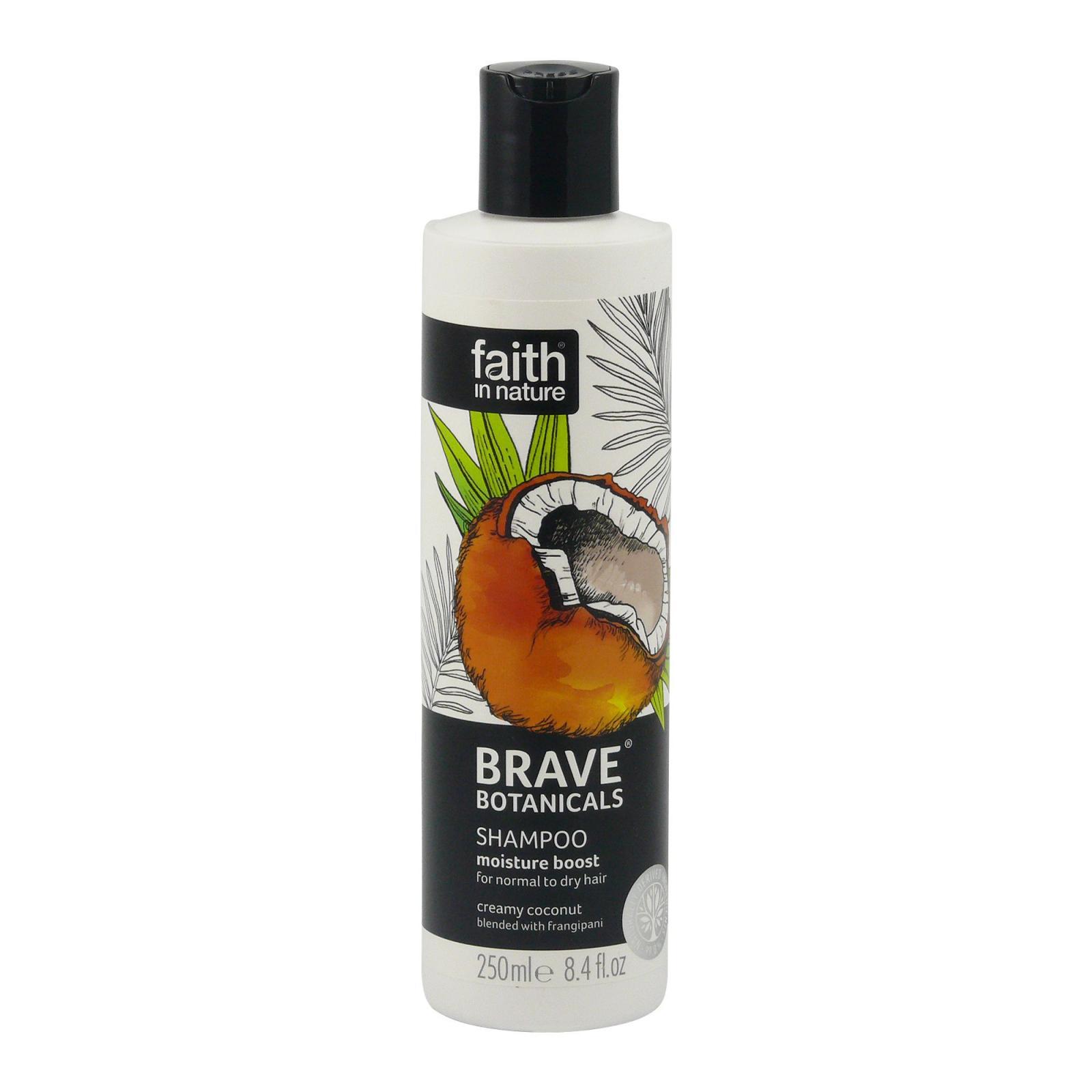 Faith in Nature Šampon kokos & plumérie, Brave 250 ml