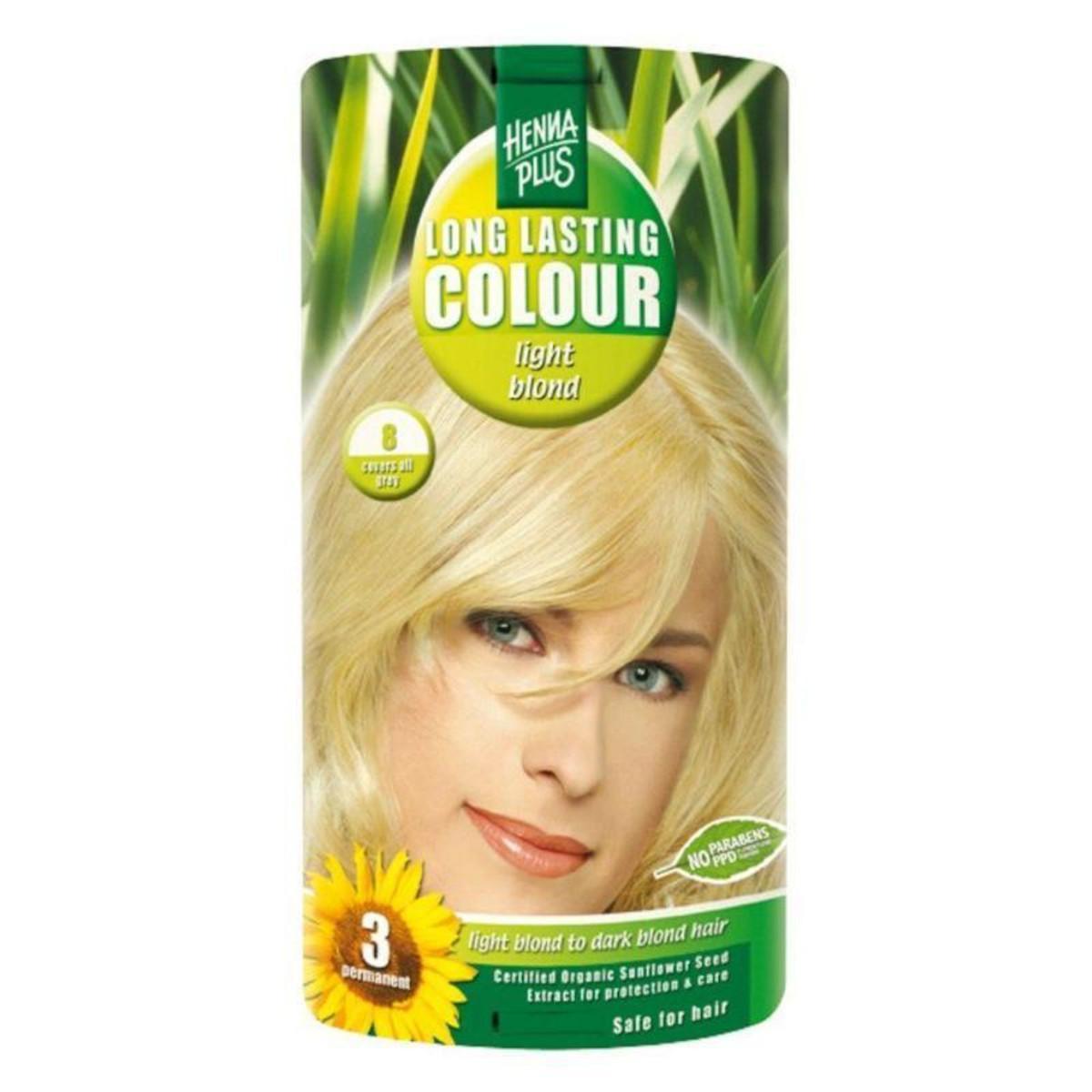Henna Plus Dlouhotrvající barva Světlá blond 8 100 ml