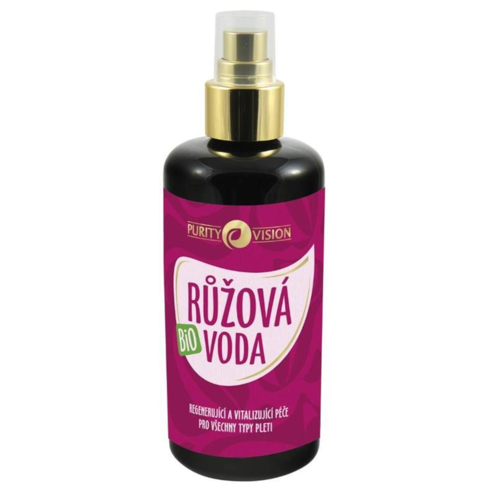 Purity Vision Růžová voda, bio 200 ml