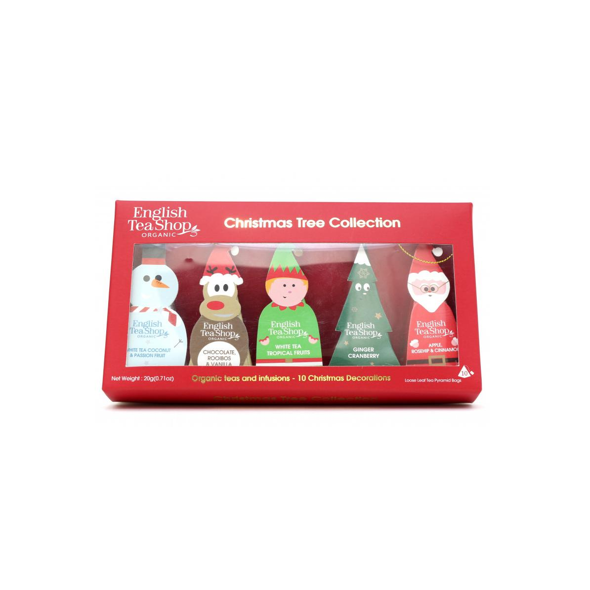 English Tea Shop Vánoční figurky, 10 pyramidek, bio 20 g, 10 ks