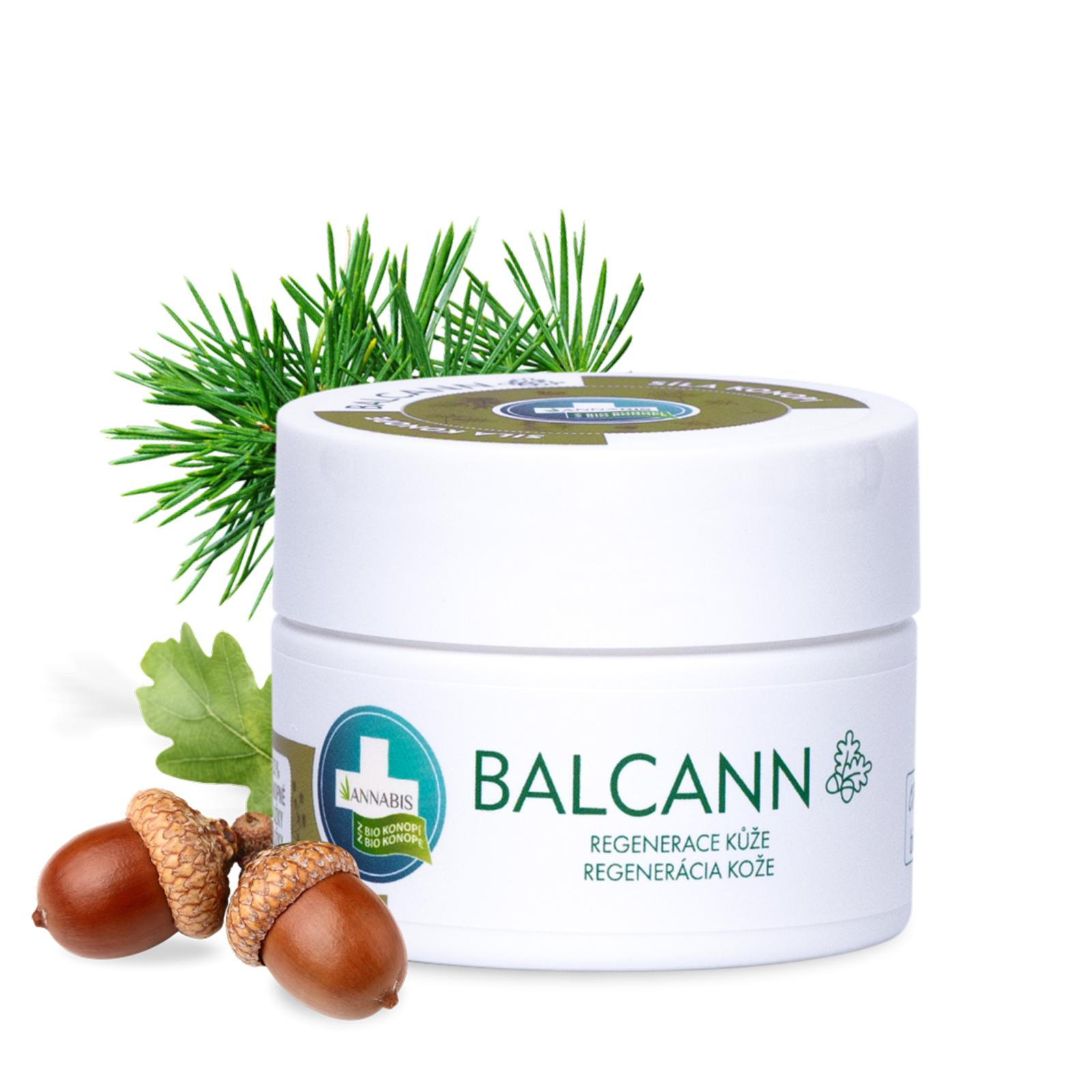 Annabis Bio Konopná mast s dubovou kůrou, Balcann 50 ml