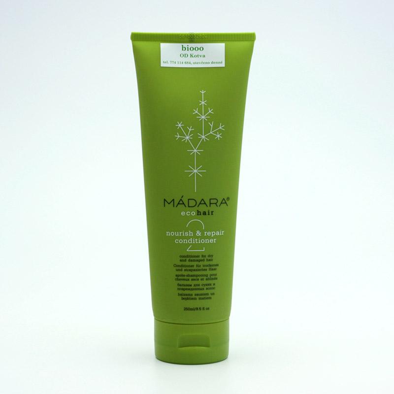 Mádara vzor Kondicionér pro suché a poškozené vlasy, nourish and repair 250 ml