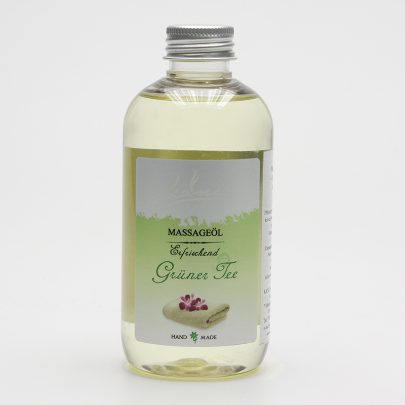 Kanu  ZRUŠENO Masážní olej zelený čaj 200 ml
