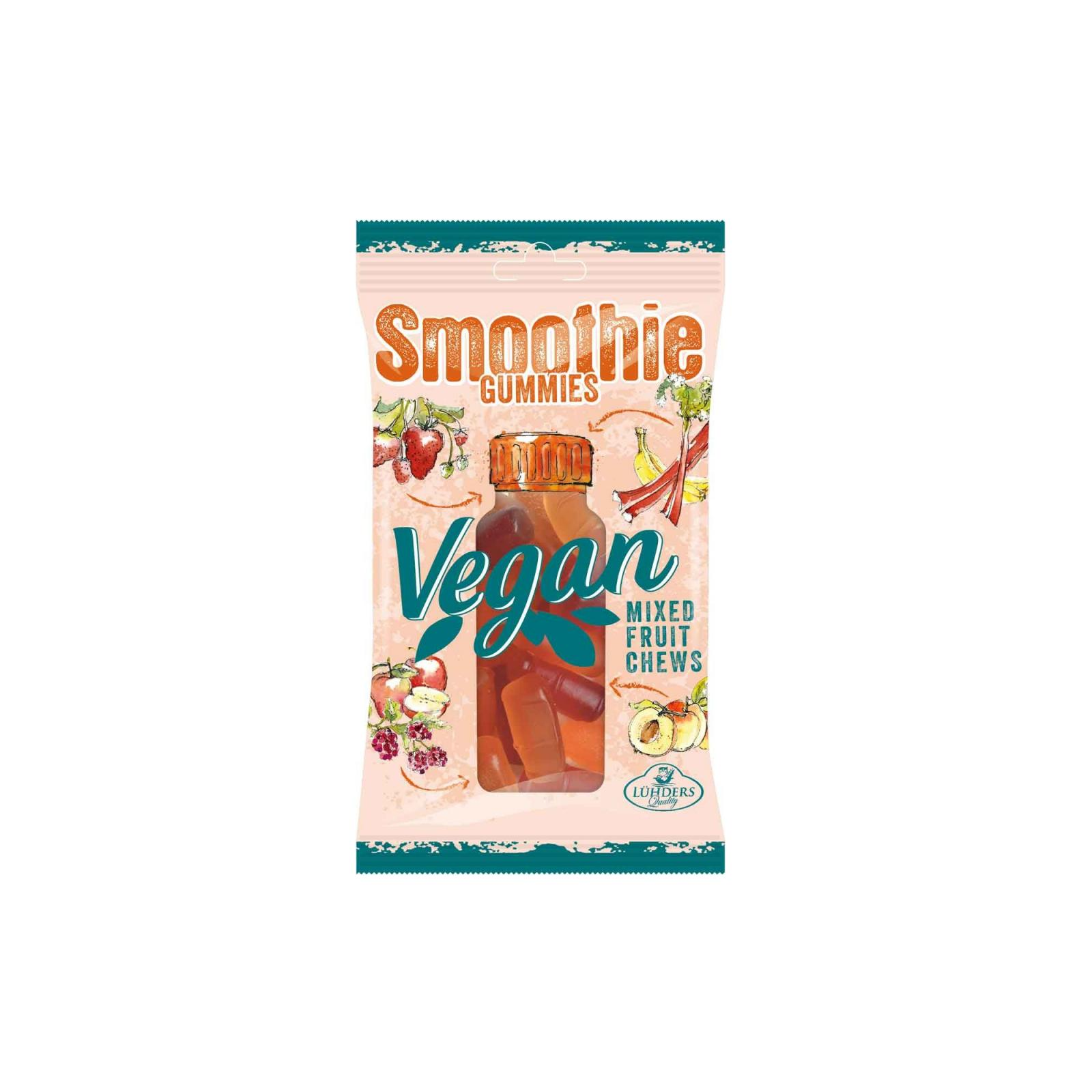 Luehders Smoothie želé ovocné bonbony 80g, jablko, broskev, malina, banán, jahoda, rebarbora