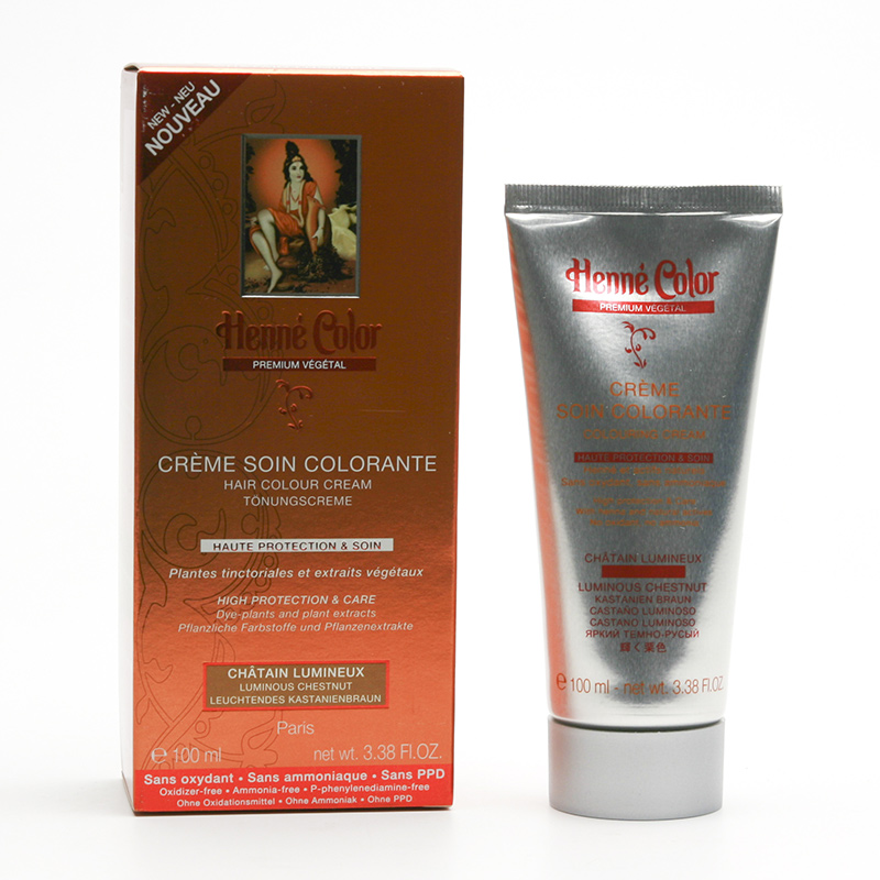 Henné Color Přeliv henna Kaštan, Premium Végétal 100 ml