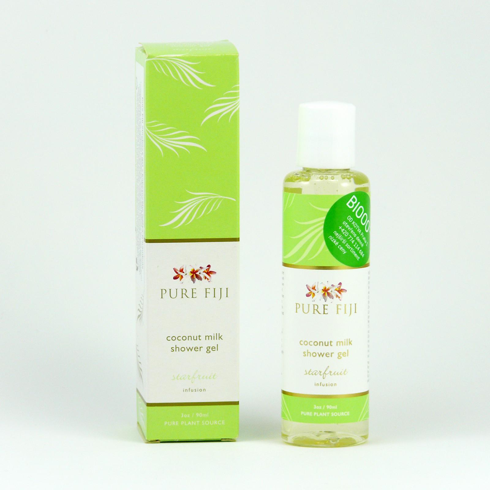 Pure Fiji Kokosový sprchový gel, karambola 90 ml