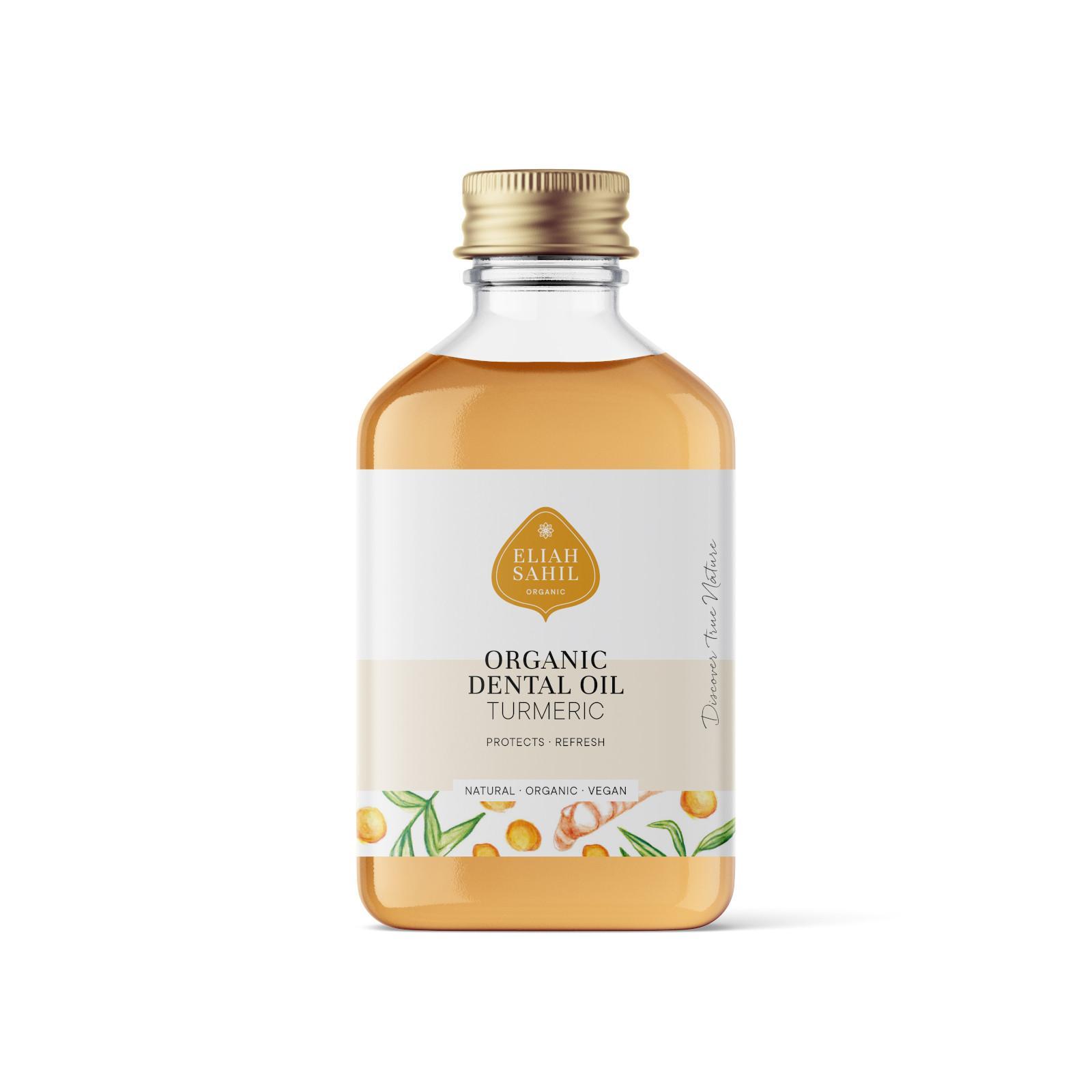 Eliah Sahil Organic Zubní olej kurkuma 100 ml
