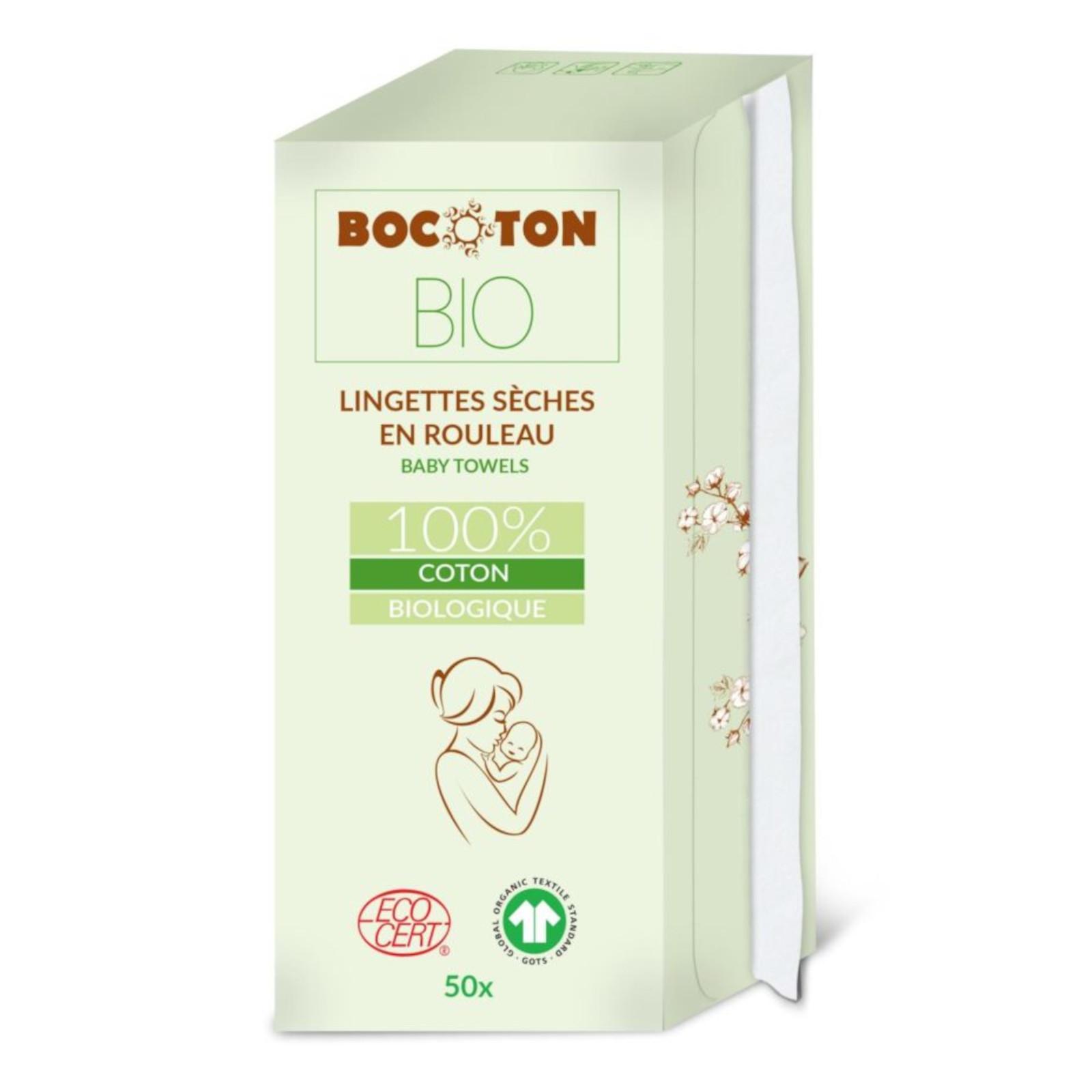 Bocoton Dětské ubrousky v roli z biobavlny 50 ks