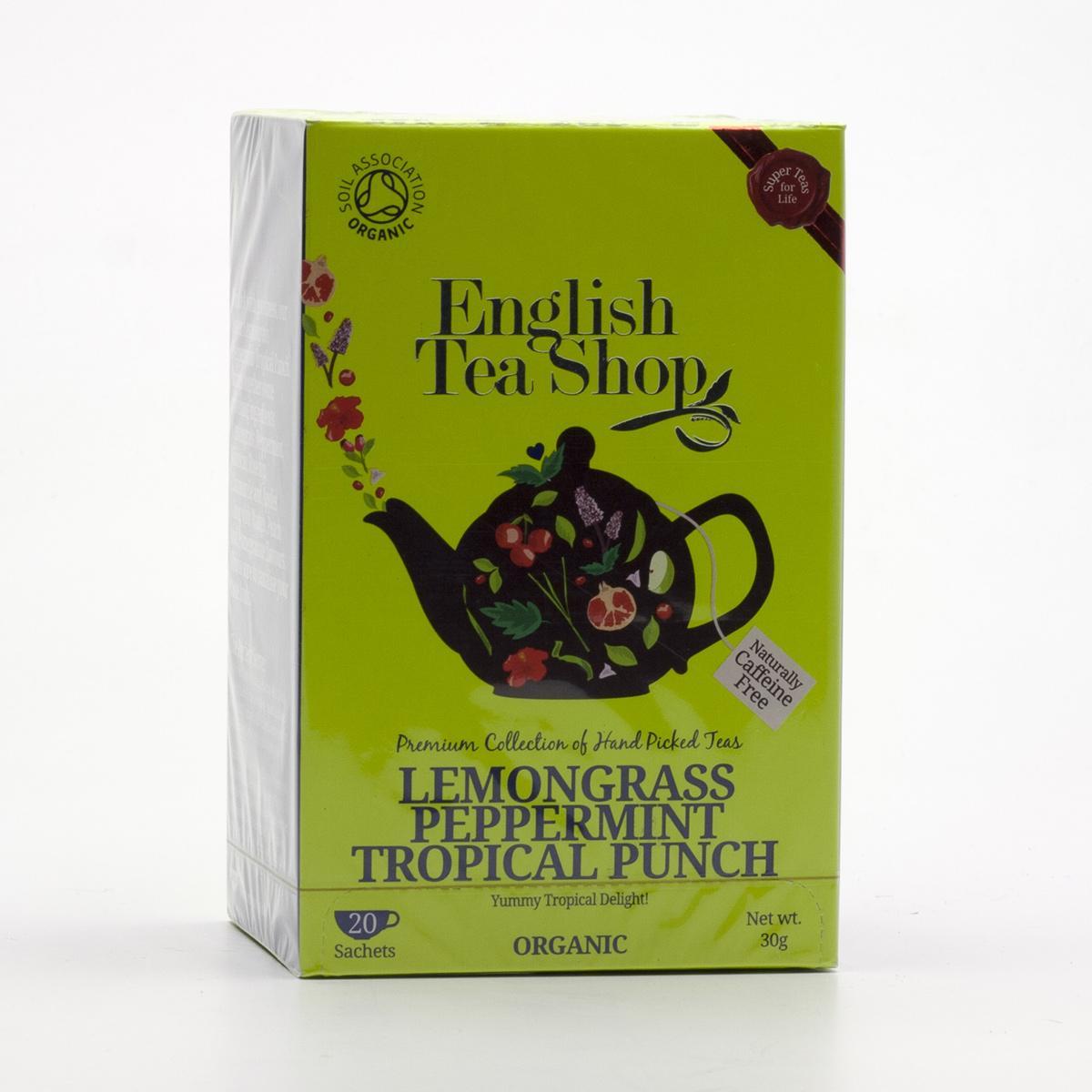 English Tea Shop Štěstí z citronové trávy, máty a tropického ovoce 20 ks, 30 g